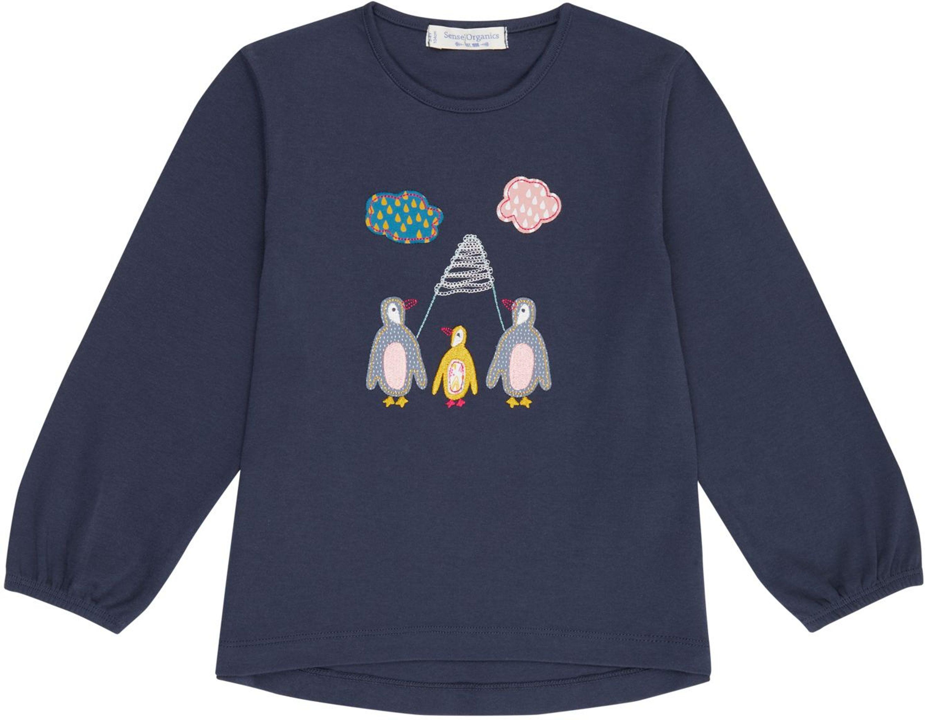 Sense Organic NAEMI Langarmshirt navy/penguins