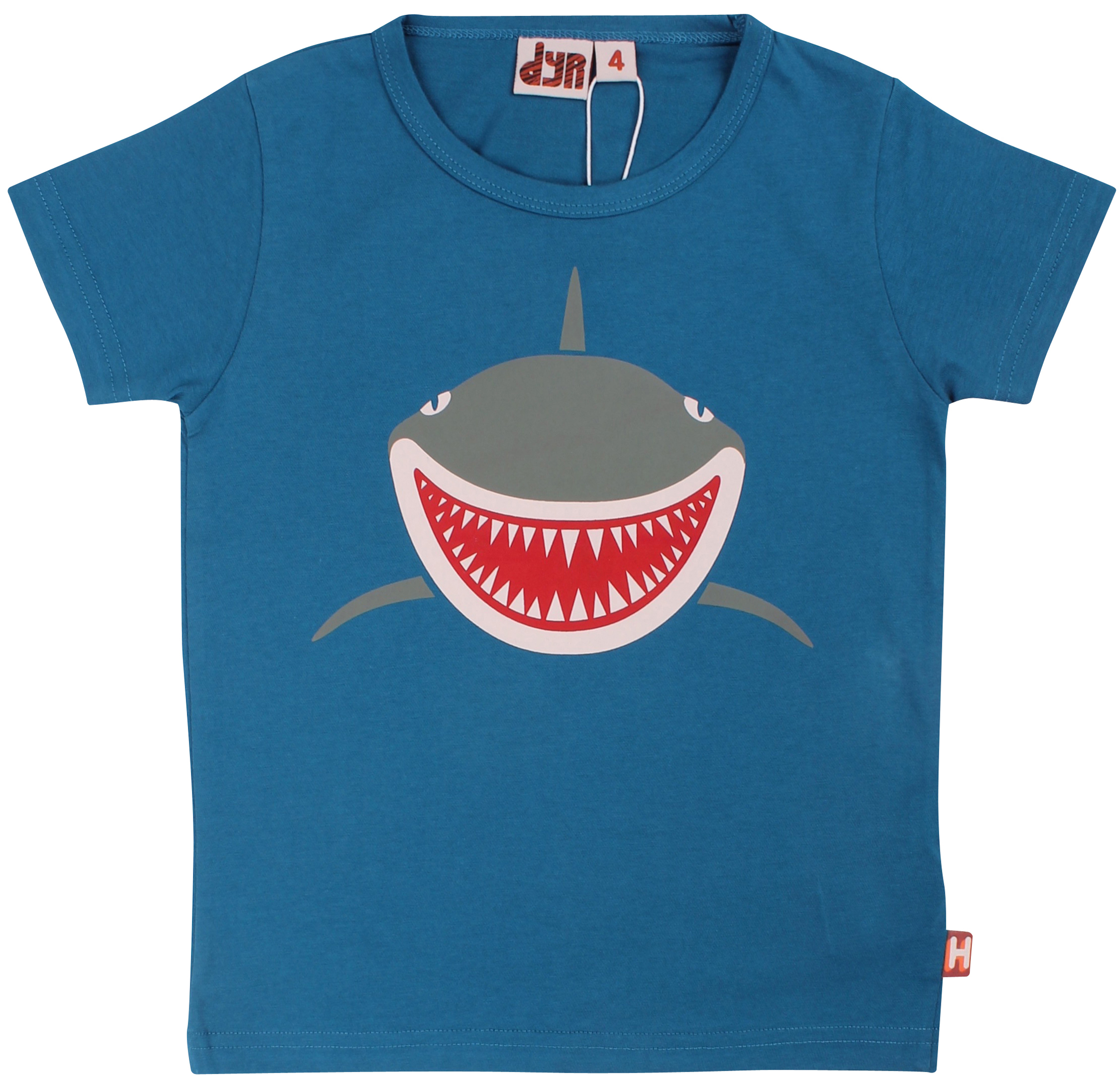 DYR T-Shirt Growl Hai dusty blue