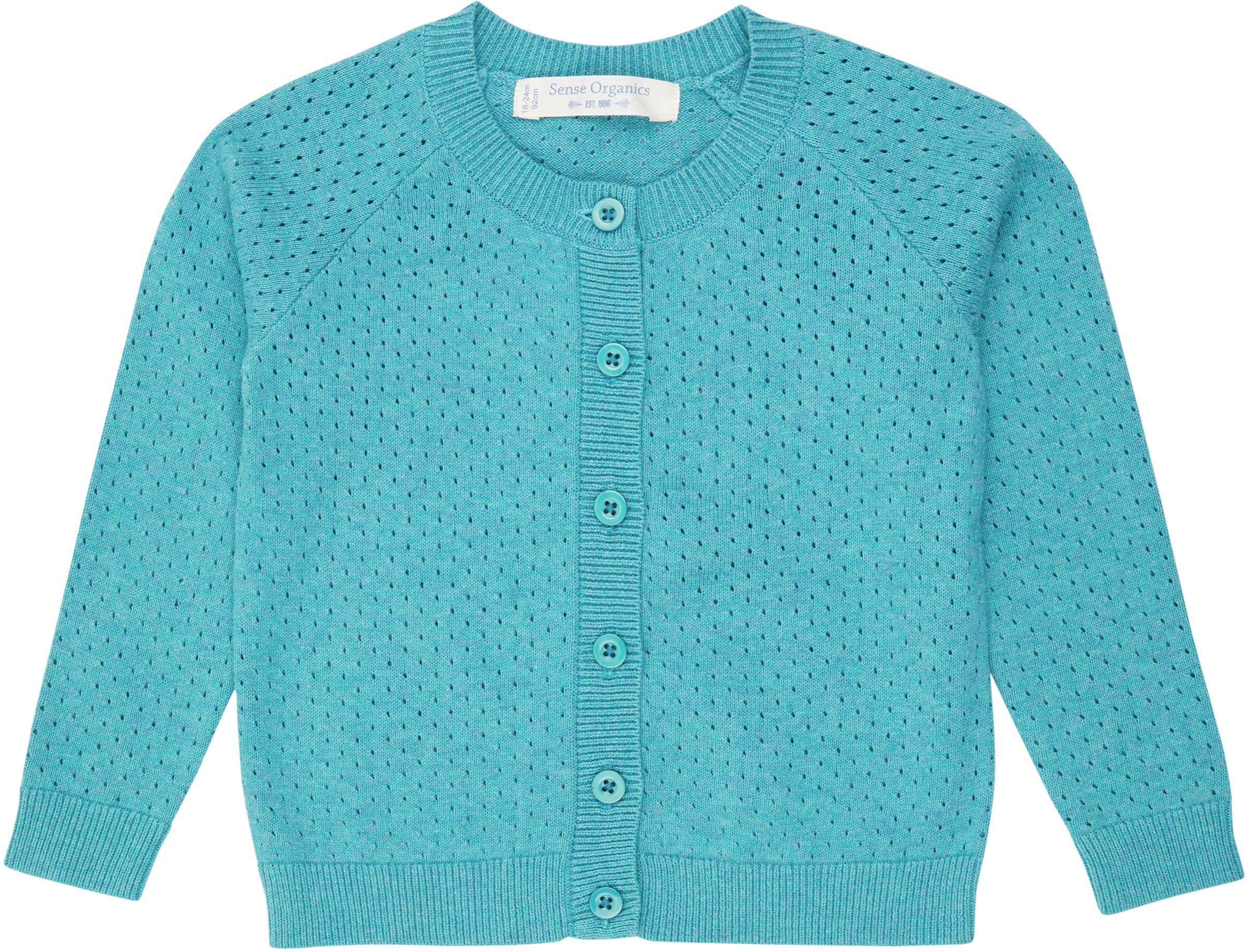Sense Organic ELSA Knitted Cardigan Türkis