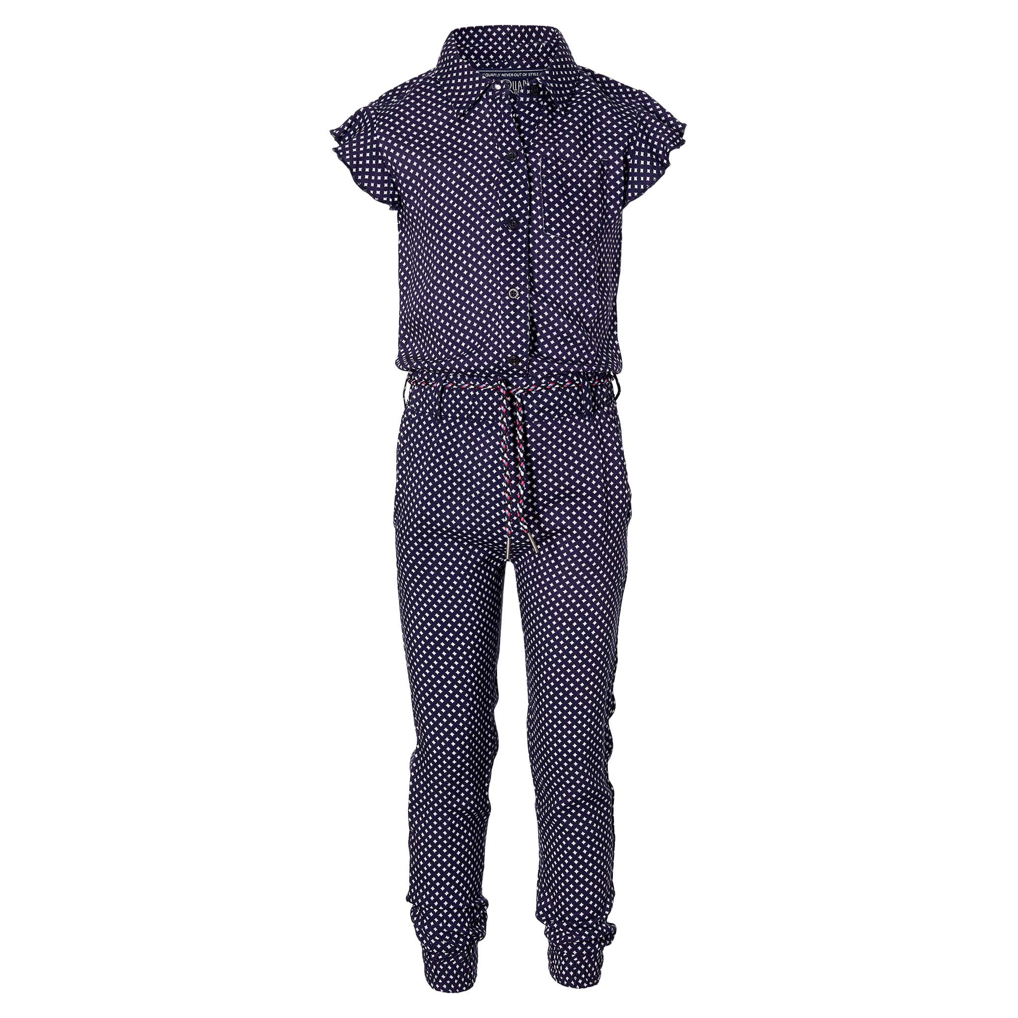Quapi Girl Jumpsuit dark blue