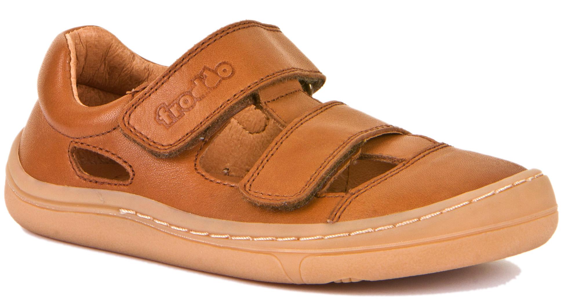 Froddo Barfuß Sandale Doppelklett Braun