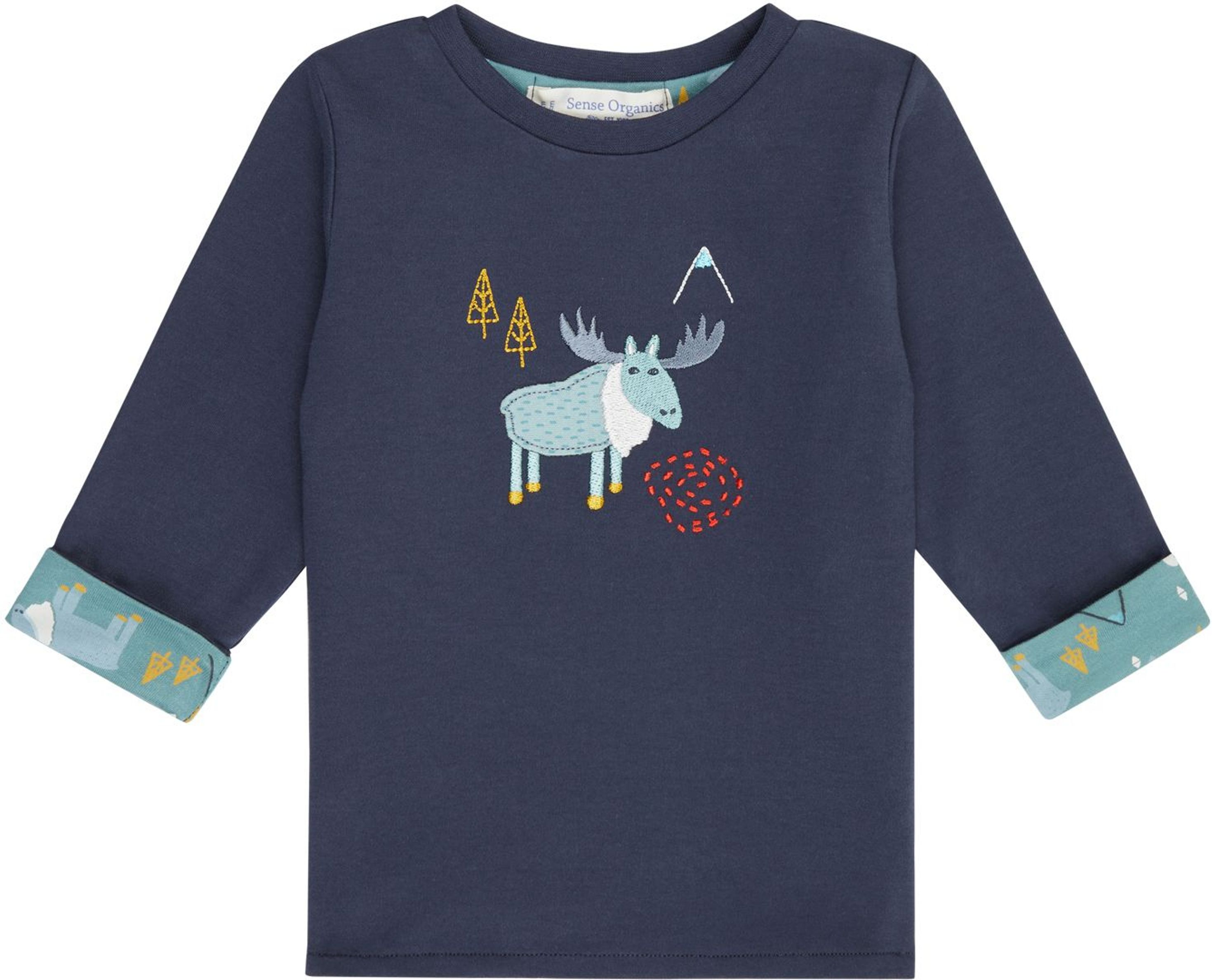 Sense Organic FELIX Baby Reversible Shirt L/S navy/reindeer