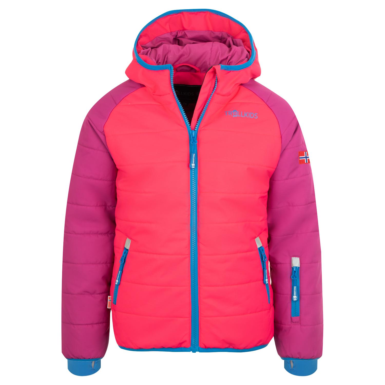 Trollkids Winterjacke Hafjell PRO dark pink/light pink/blue