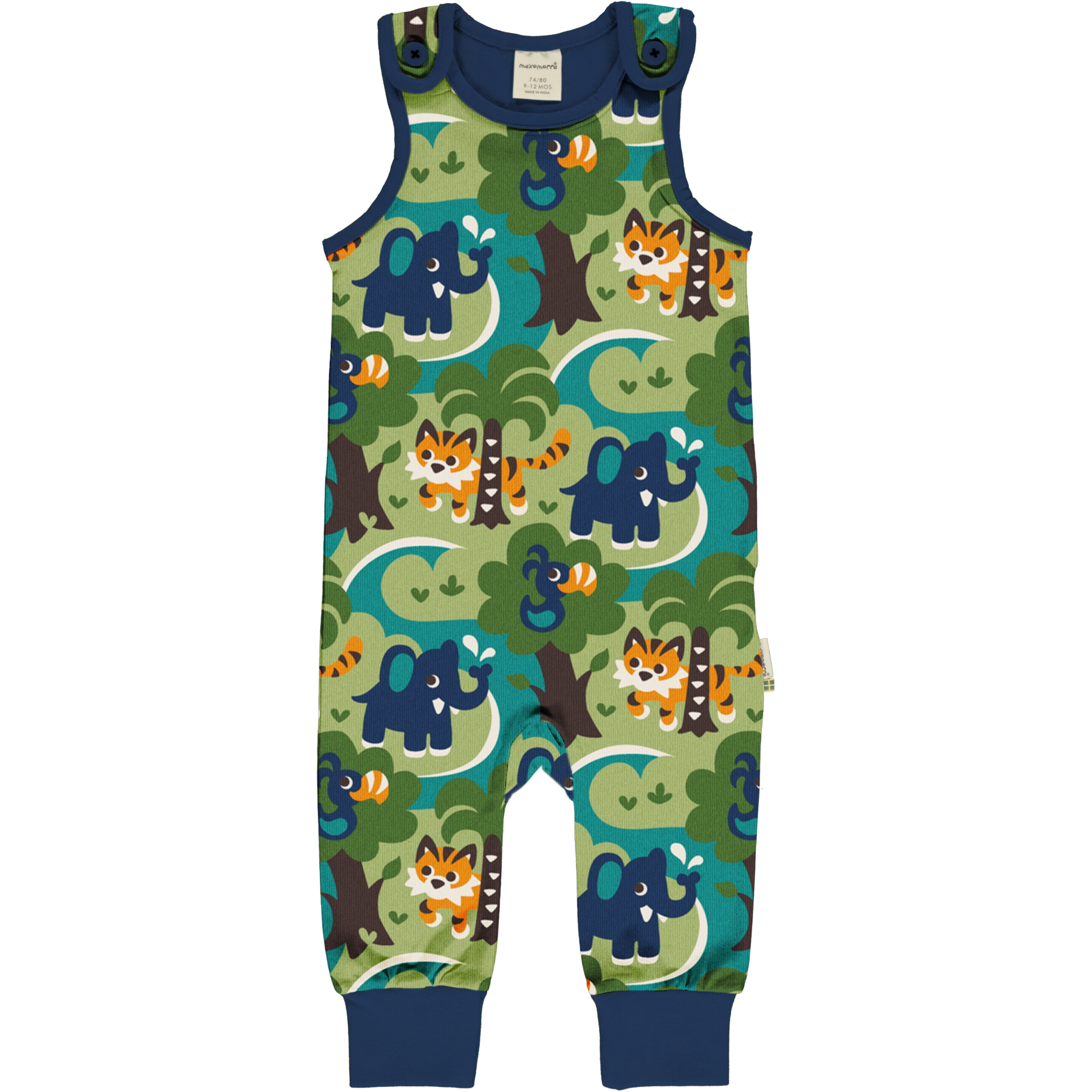 Maxomorra Baby Playsuit JUNGLE 62/68