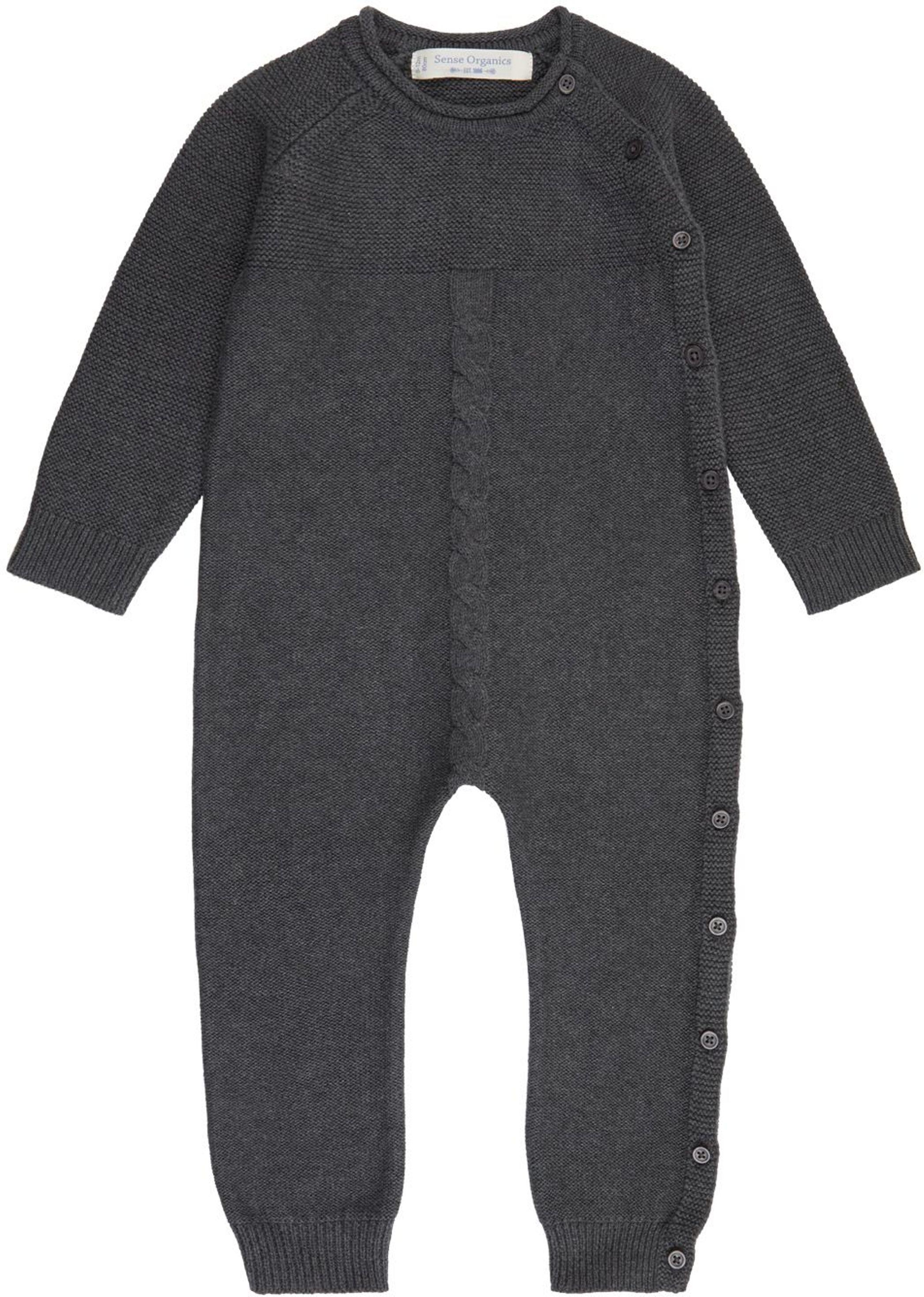 Sense Organic YACI Baby Knitted Romper anthracite