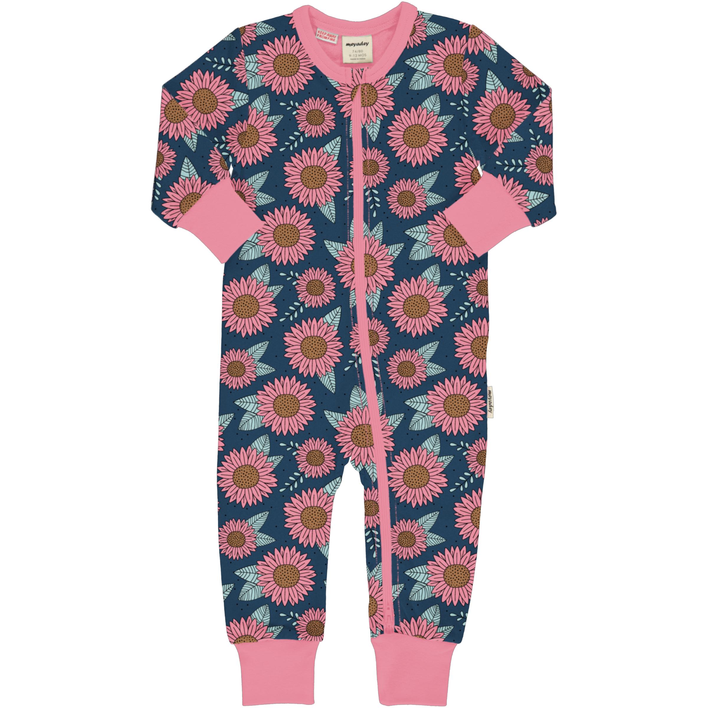 Meyadey by Maxomorra Baby Schlafanzug Einteiler Lang SUNFLOWER DREAMS 062/068