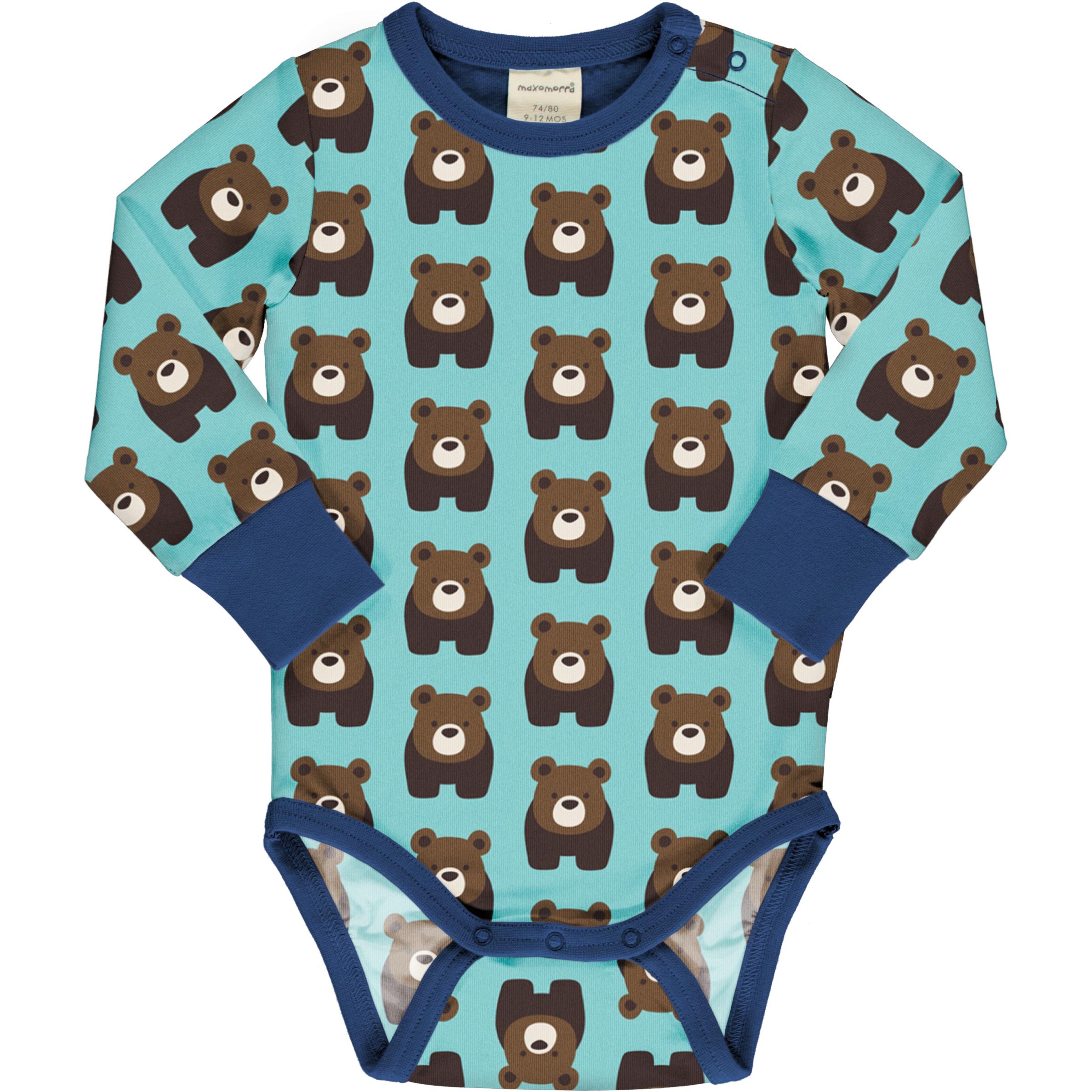 Maxomorra Baby Langarmbody BEAR