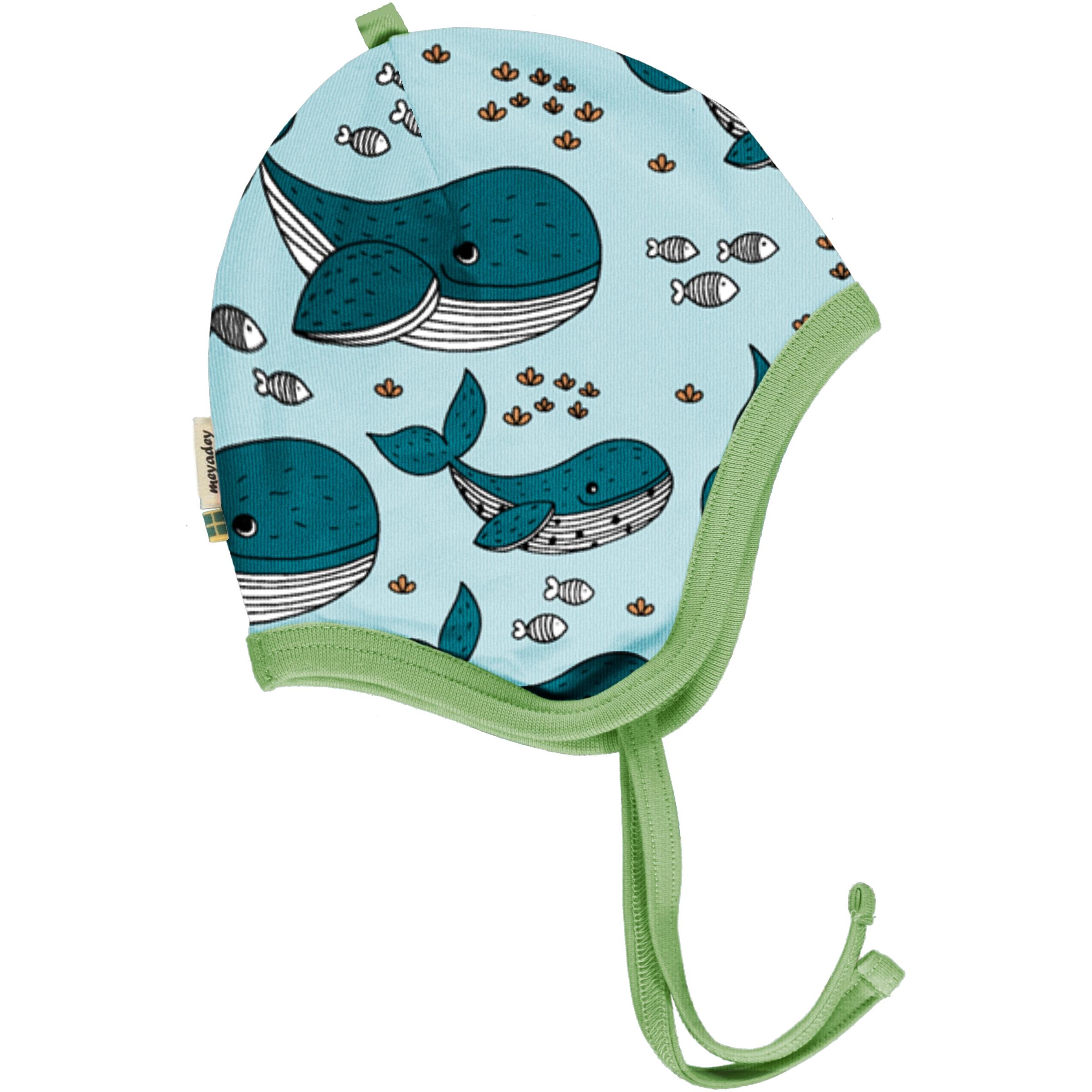 Meyadey by Maxomorra Baby Hat Helmet WHALE WATERS 40/42