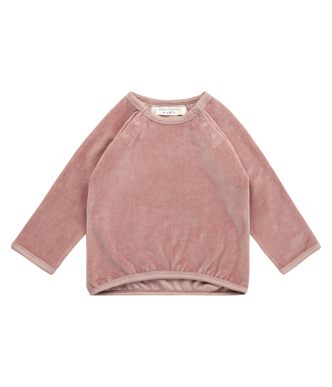 Sense Organic Baby Sweater Velour JANNE mauve