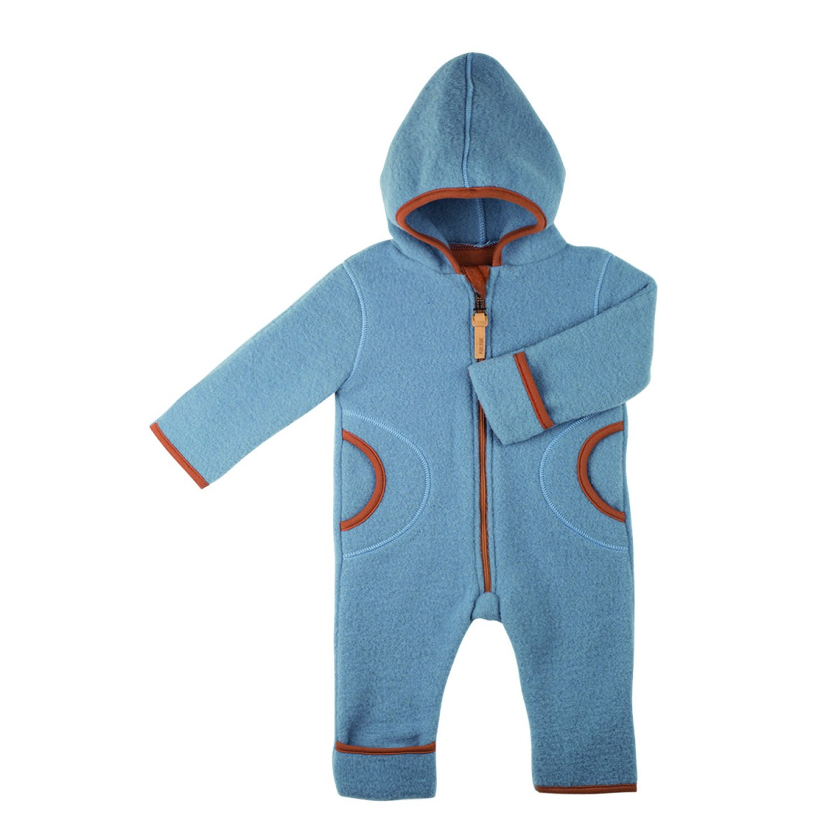 Pure Pure Baby Overall Fleece dusty blue