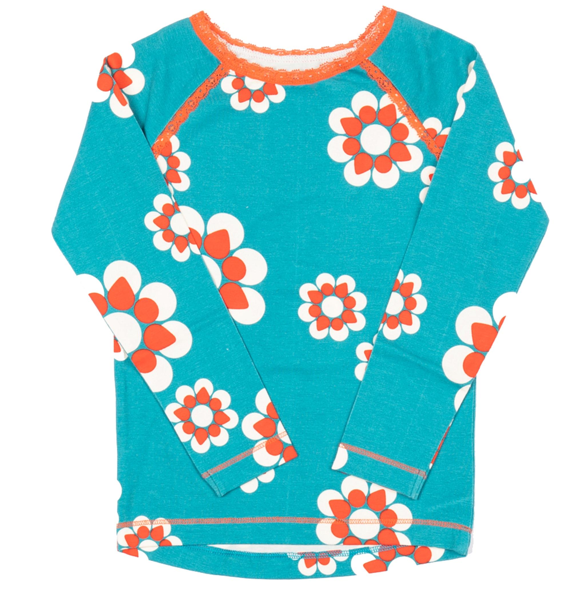 AlbaBaby Girl Langarmshirt Ghita Blouse Biscay Bay Flower