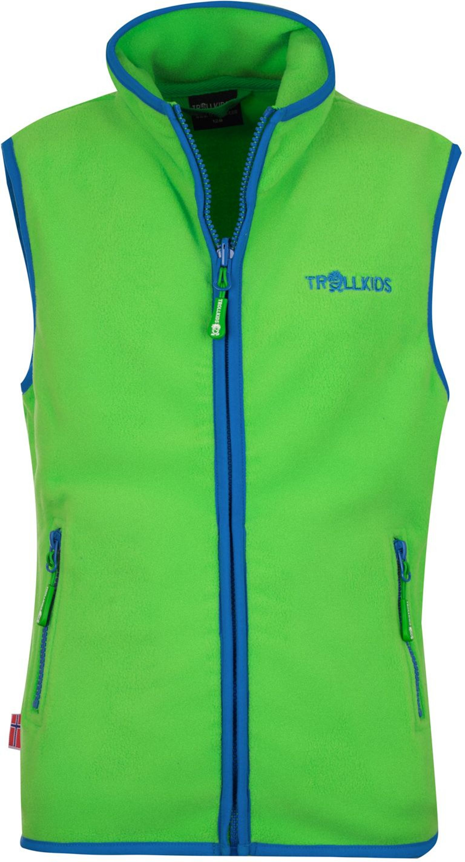 Trollkids Arendal Fleece Weste bright green