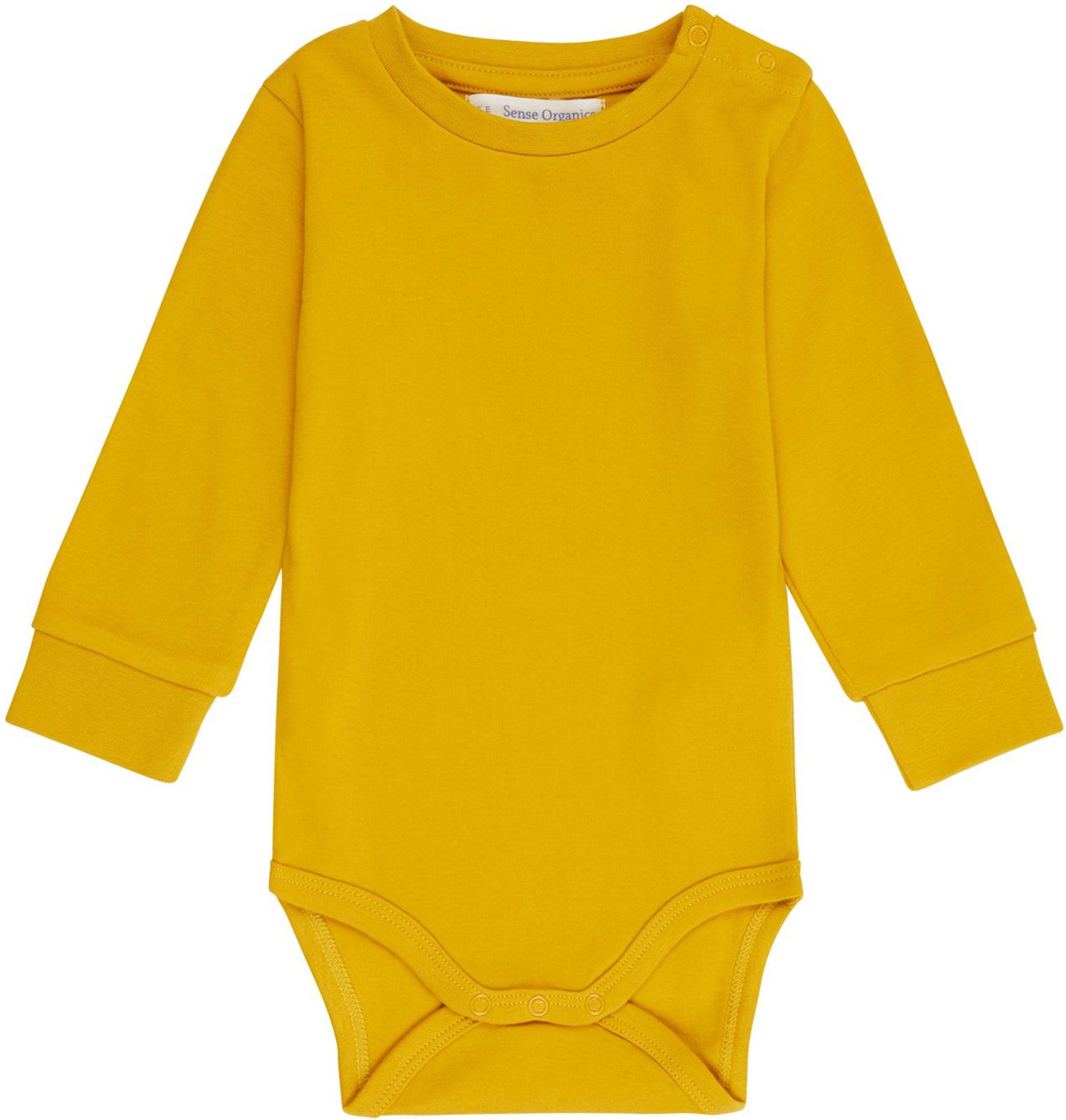 Sense Organic MILAN Baby Body L/S mustard
