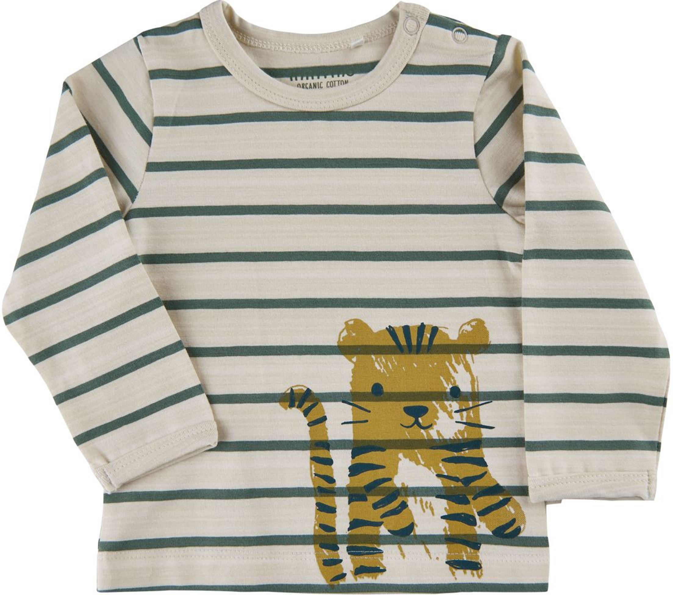 Minymo Baby Langarmshirt Stripe Print white