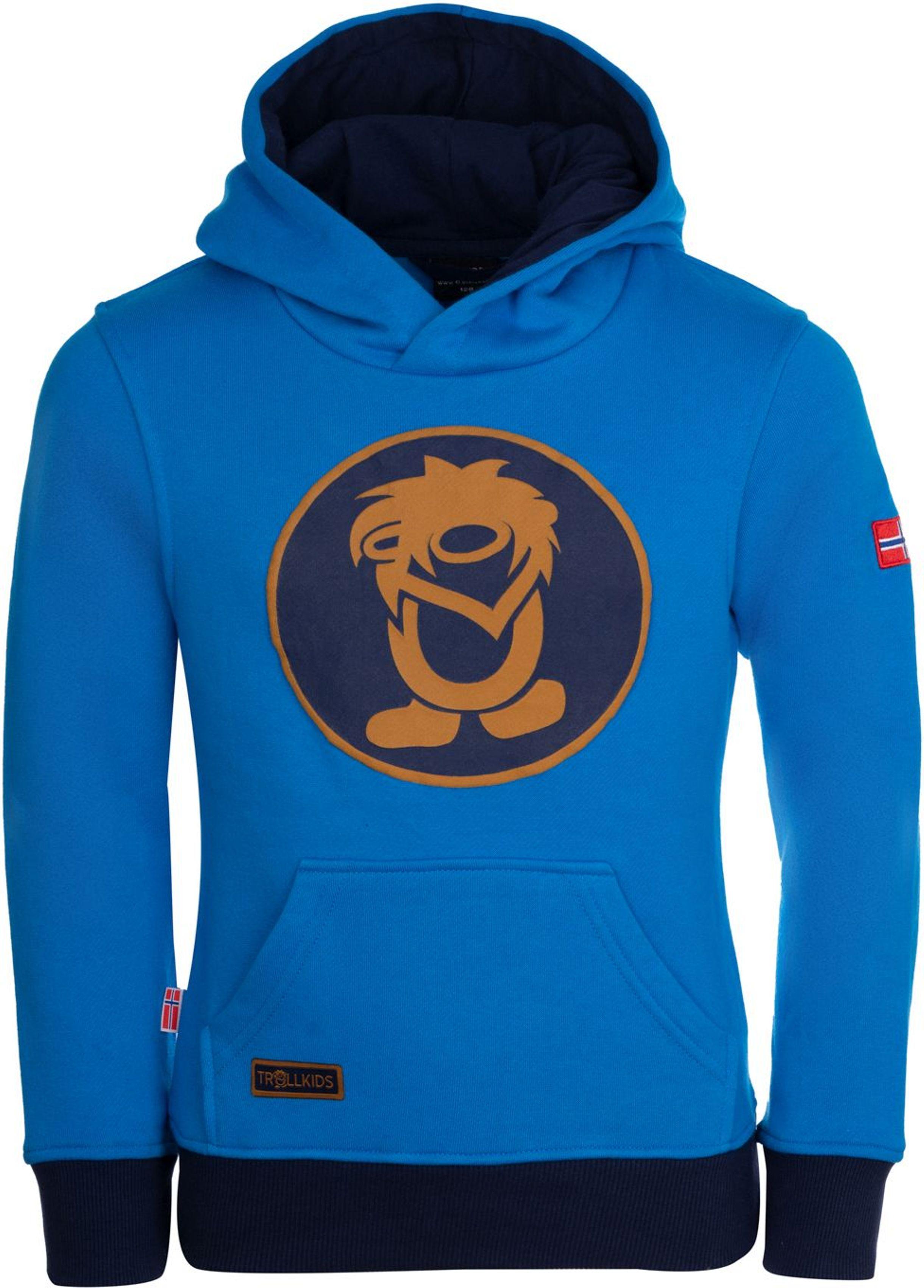 Trollkids Troll Sweater Azure Blue/Navy