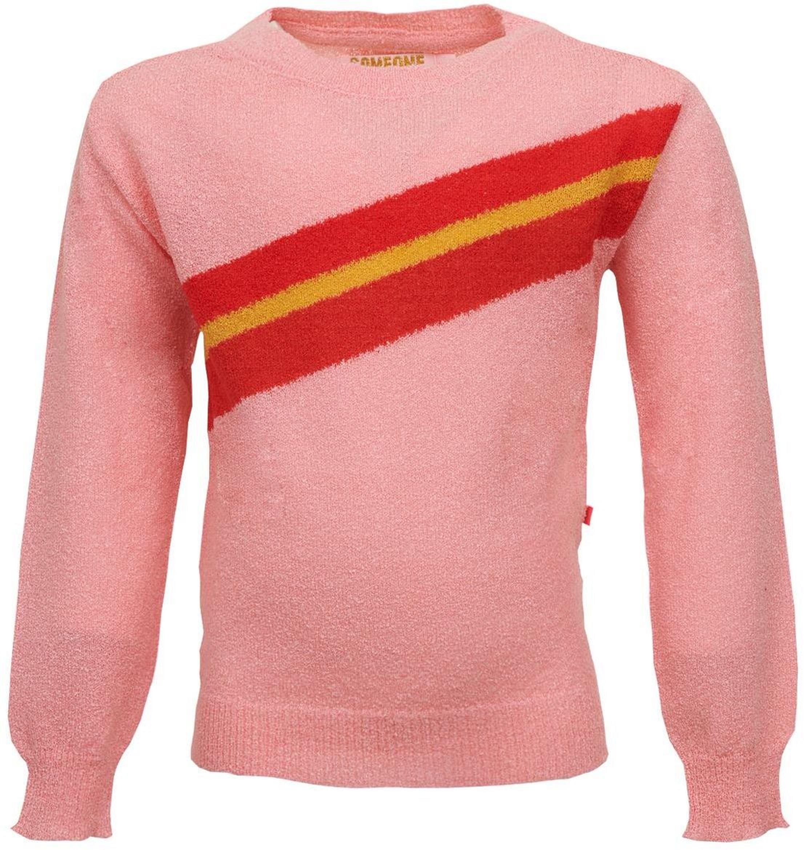 Someone Girl Pullover Stripe pink