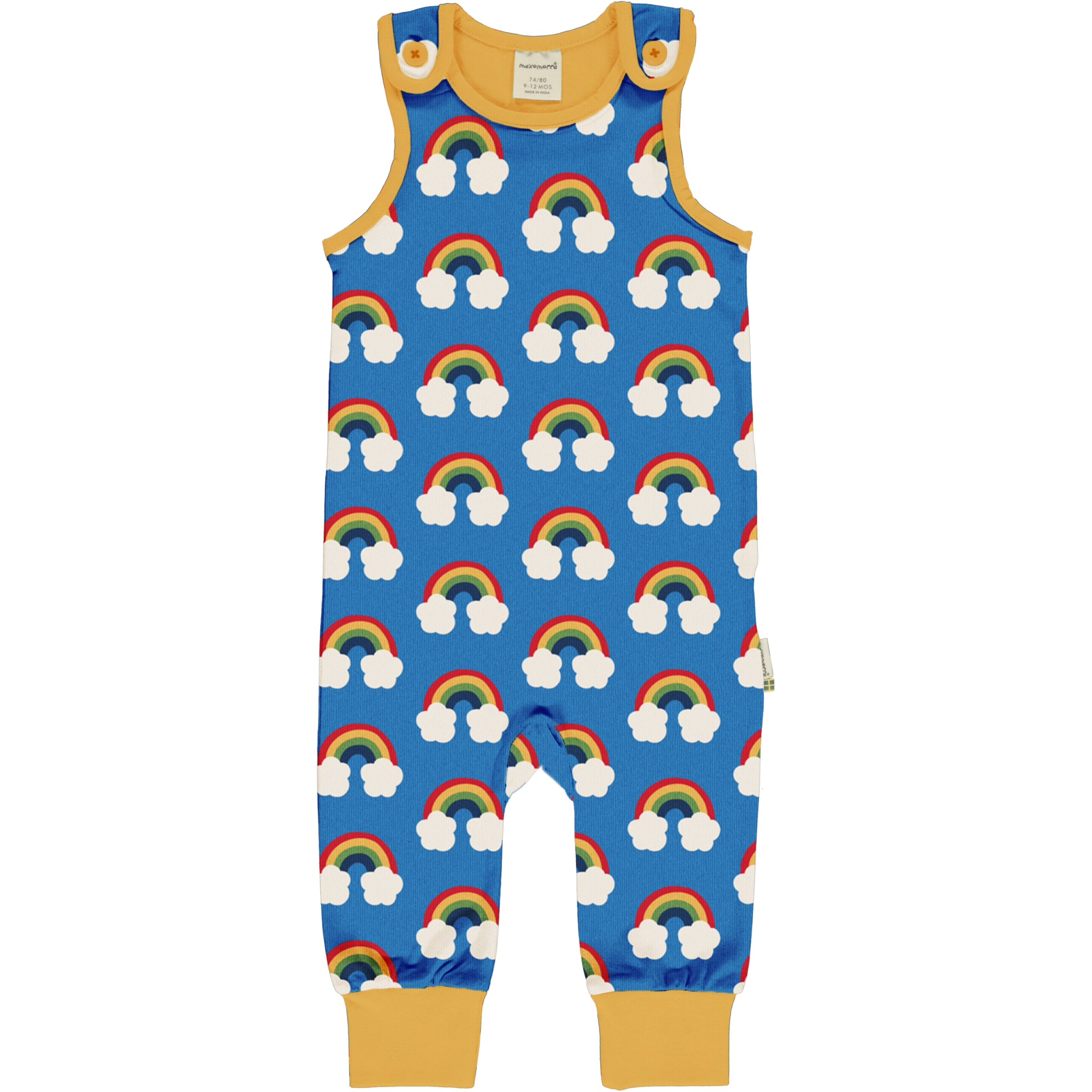Maxomorra Baby Playsuit RAINBOW 50/56