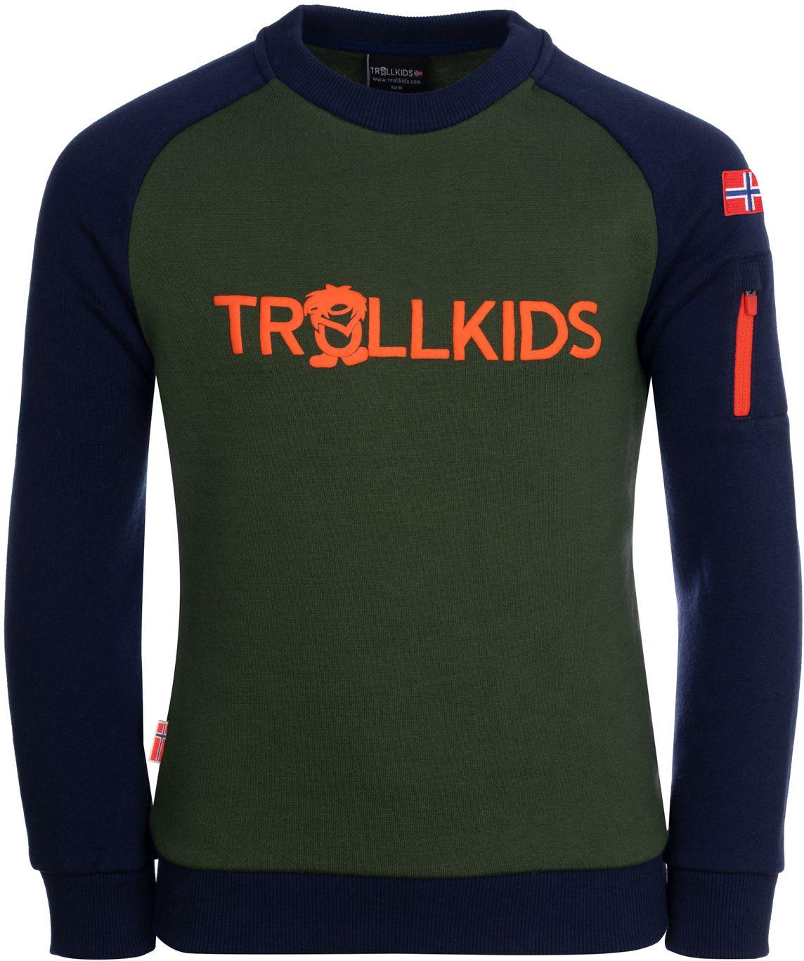 Trollkids Sandefjord Sweatshirt Forest Green/Navy