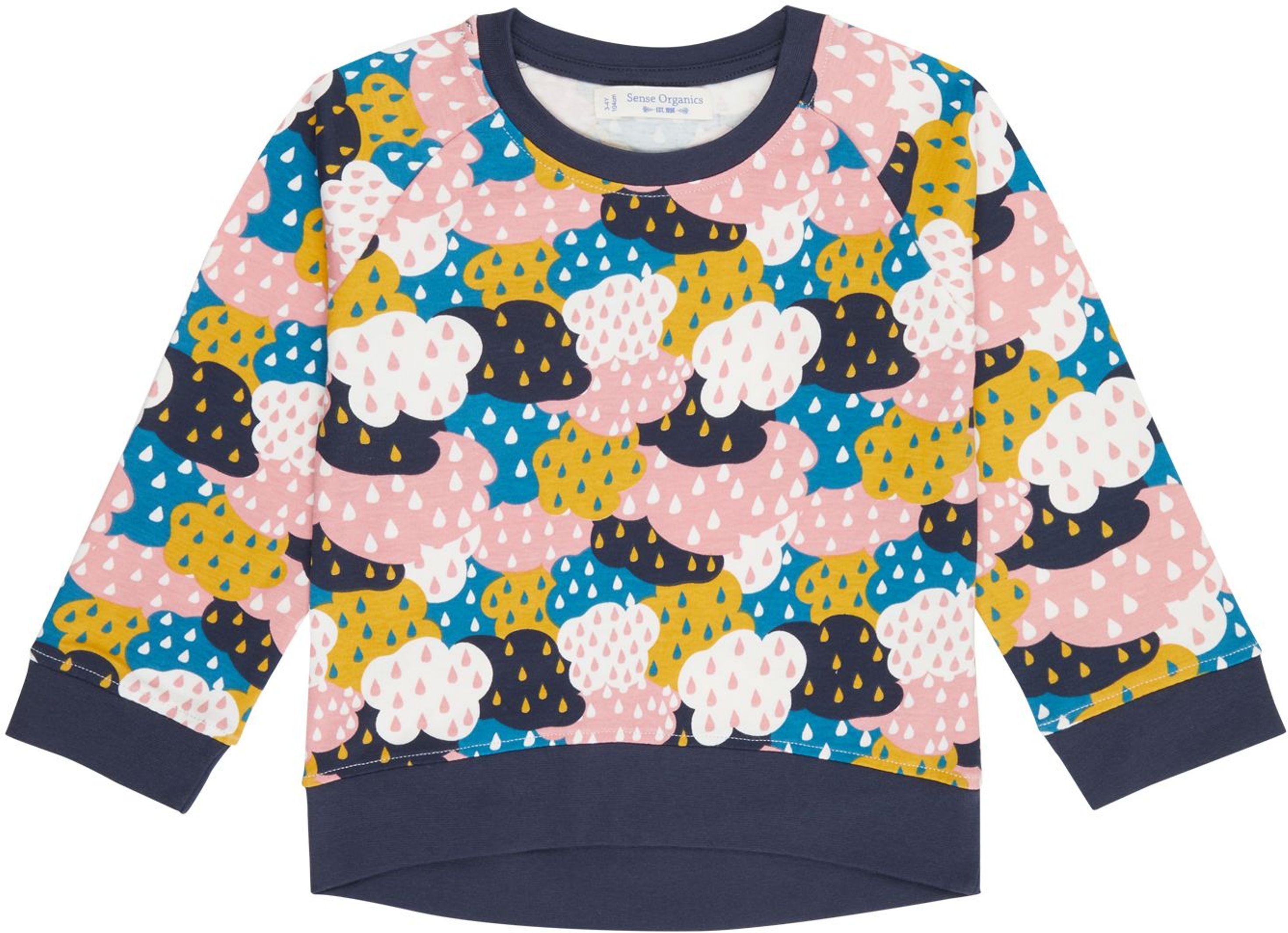 Sense Organic DENA Raglan Shirt AOP clouds