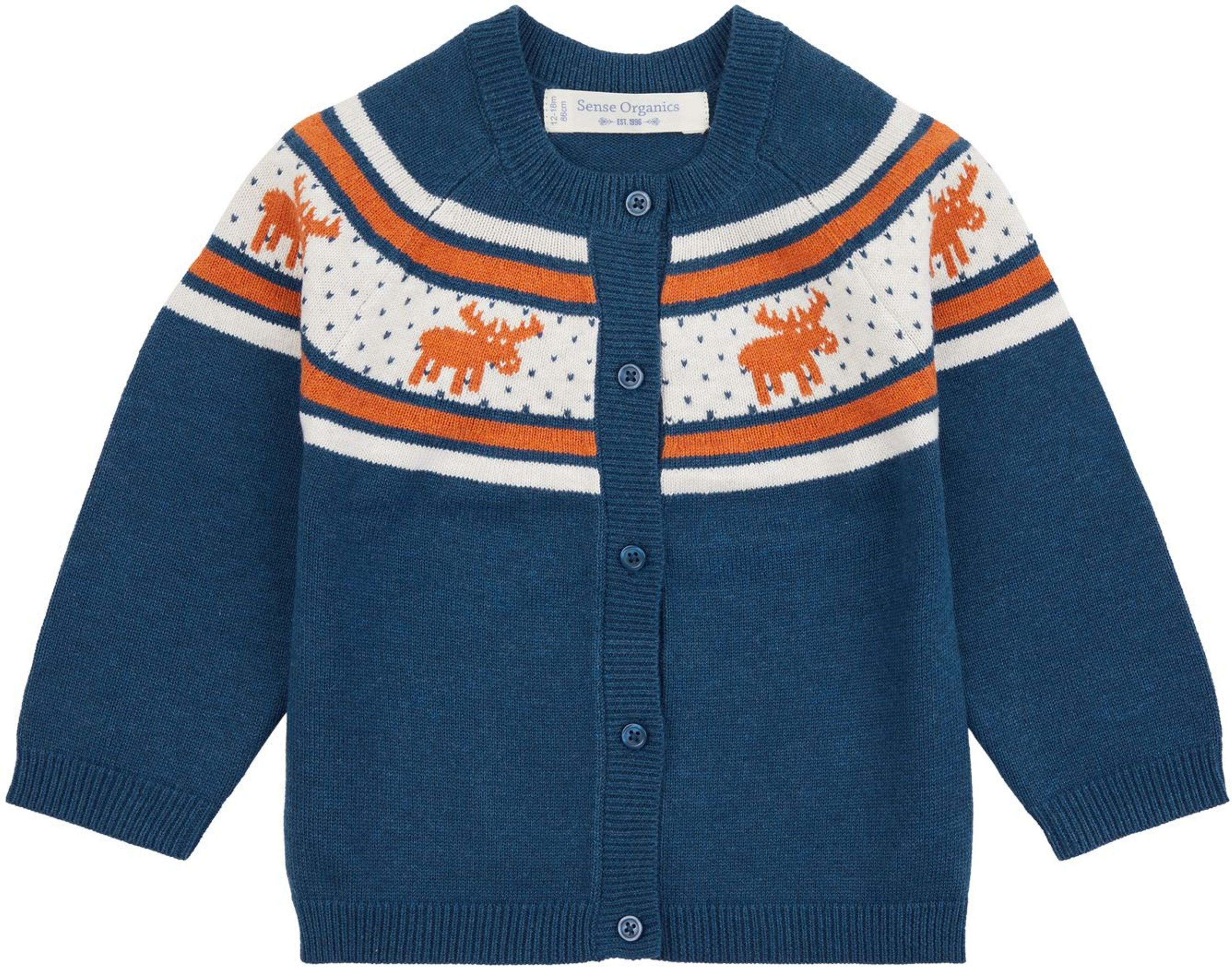 Sense Organic MAXIM Baby Knitted Cardigan blue