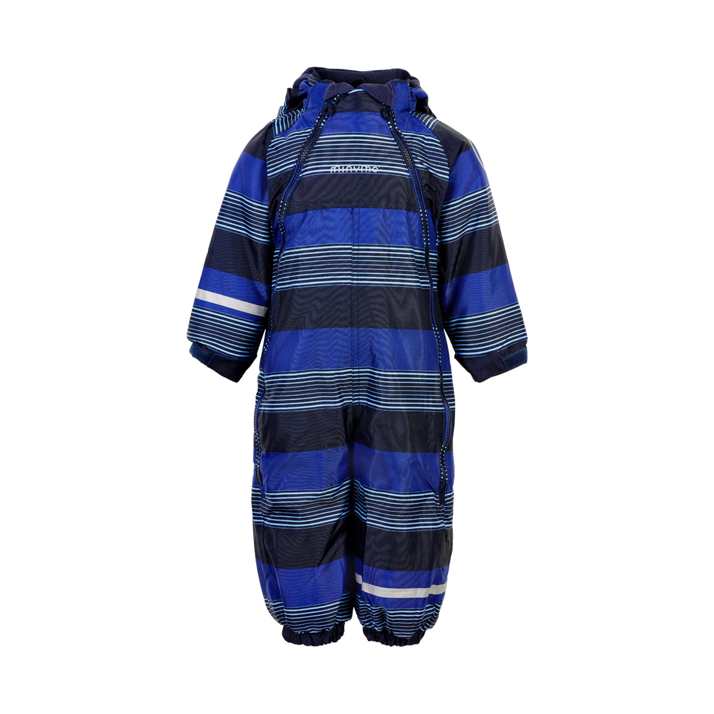 Minymo Boy Schneeanzug Oxford 2 Zipper placid blue