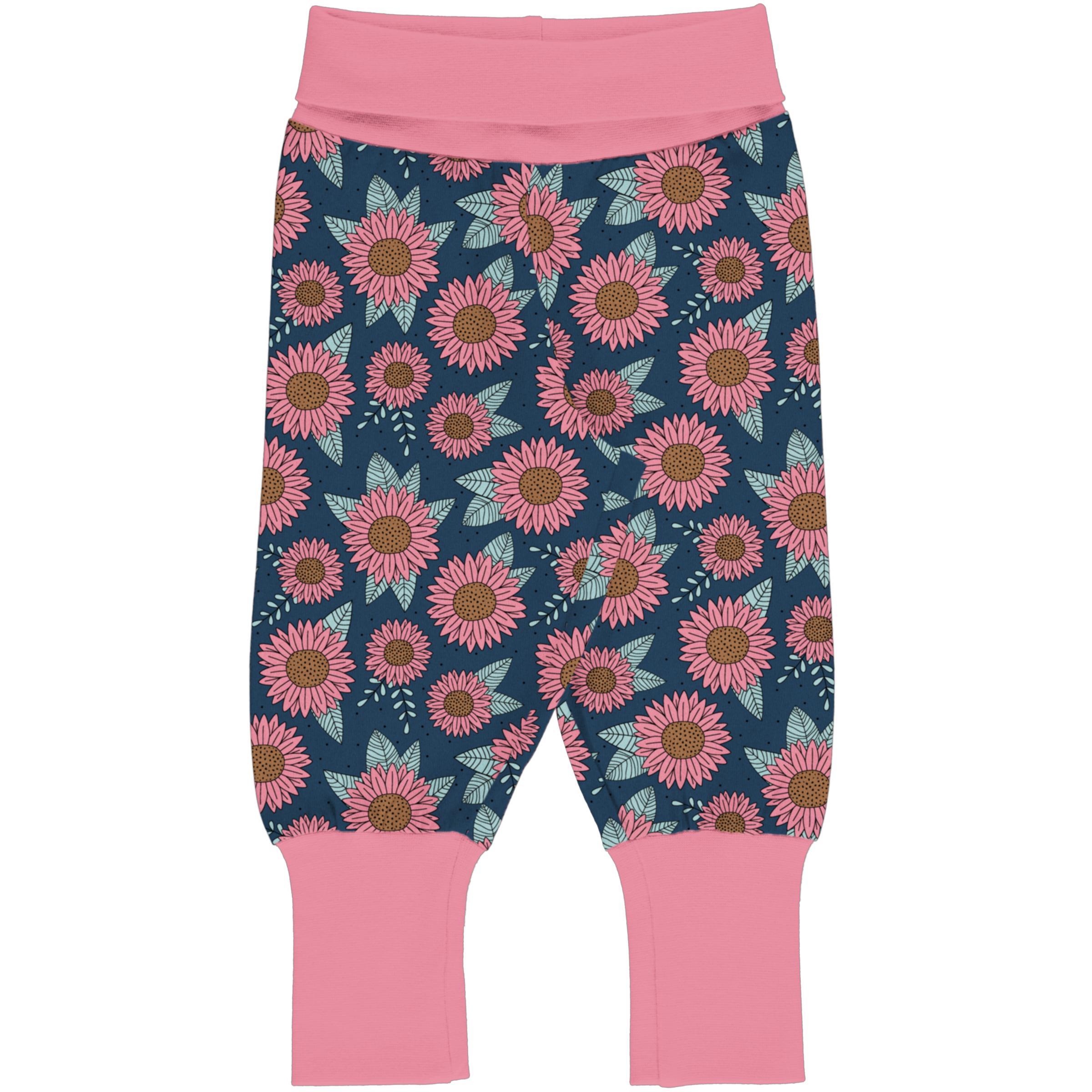 Meyadey by Maxomorra Baby Rib Pants SUNFLOWER DREAMS 086/092