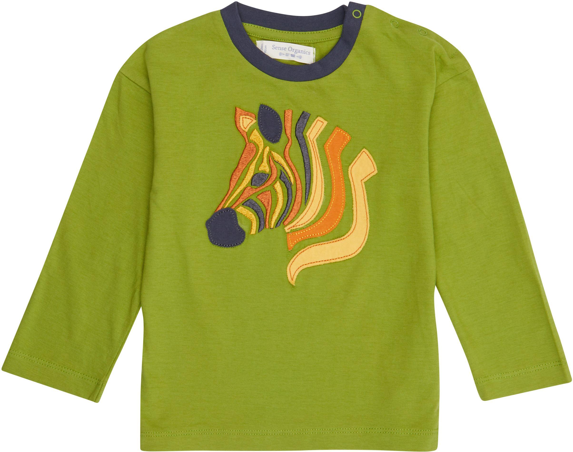 Sense Organic HANS Shirt Langarm Green Zebra