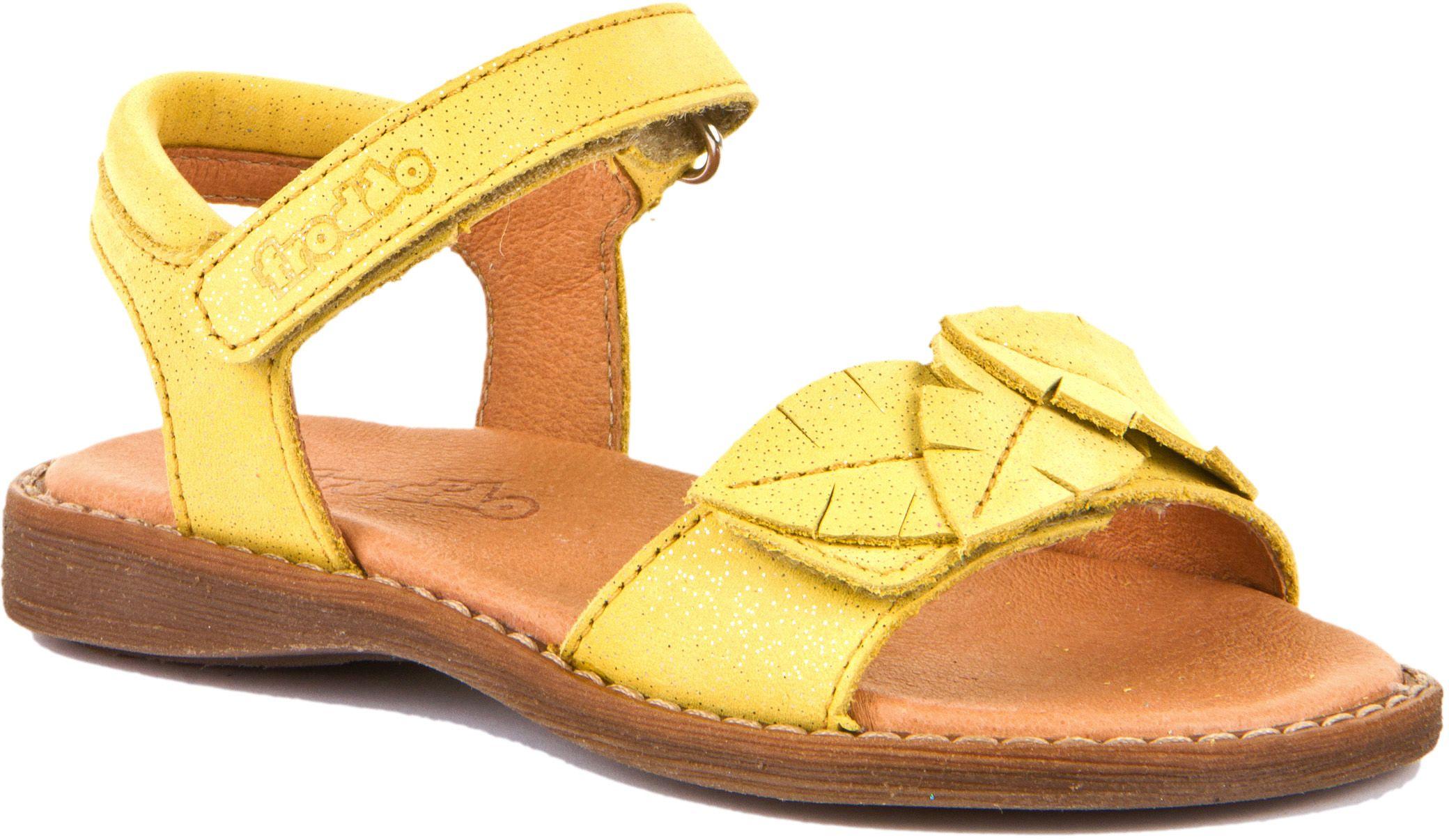 Froddo Mädchen Sandale Leaves Gelb+