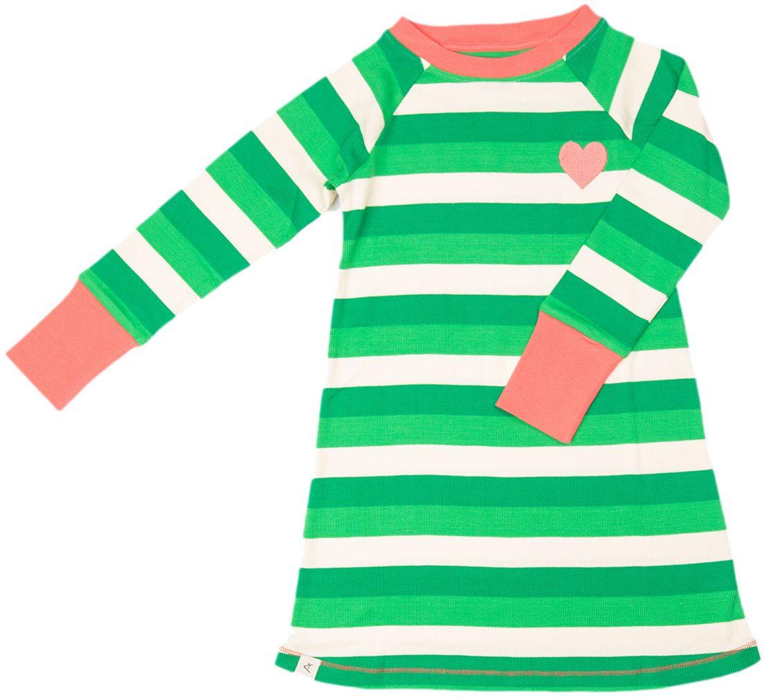 Alba of Denmark Kleid Everyday School Dress  green stripes
