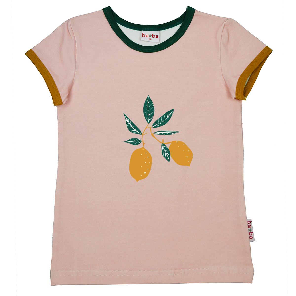 Baba Kidswear Kurzarmshirt Frucht rosa