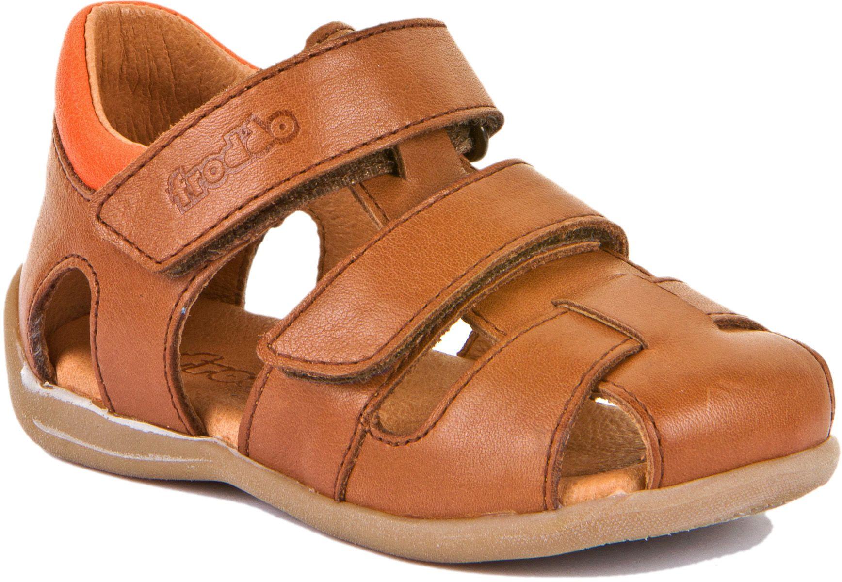 Froddo Lauflerner Sandale Doppelklett Braun