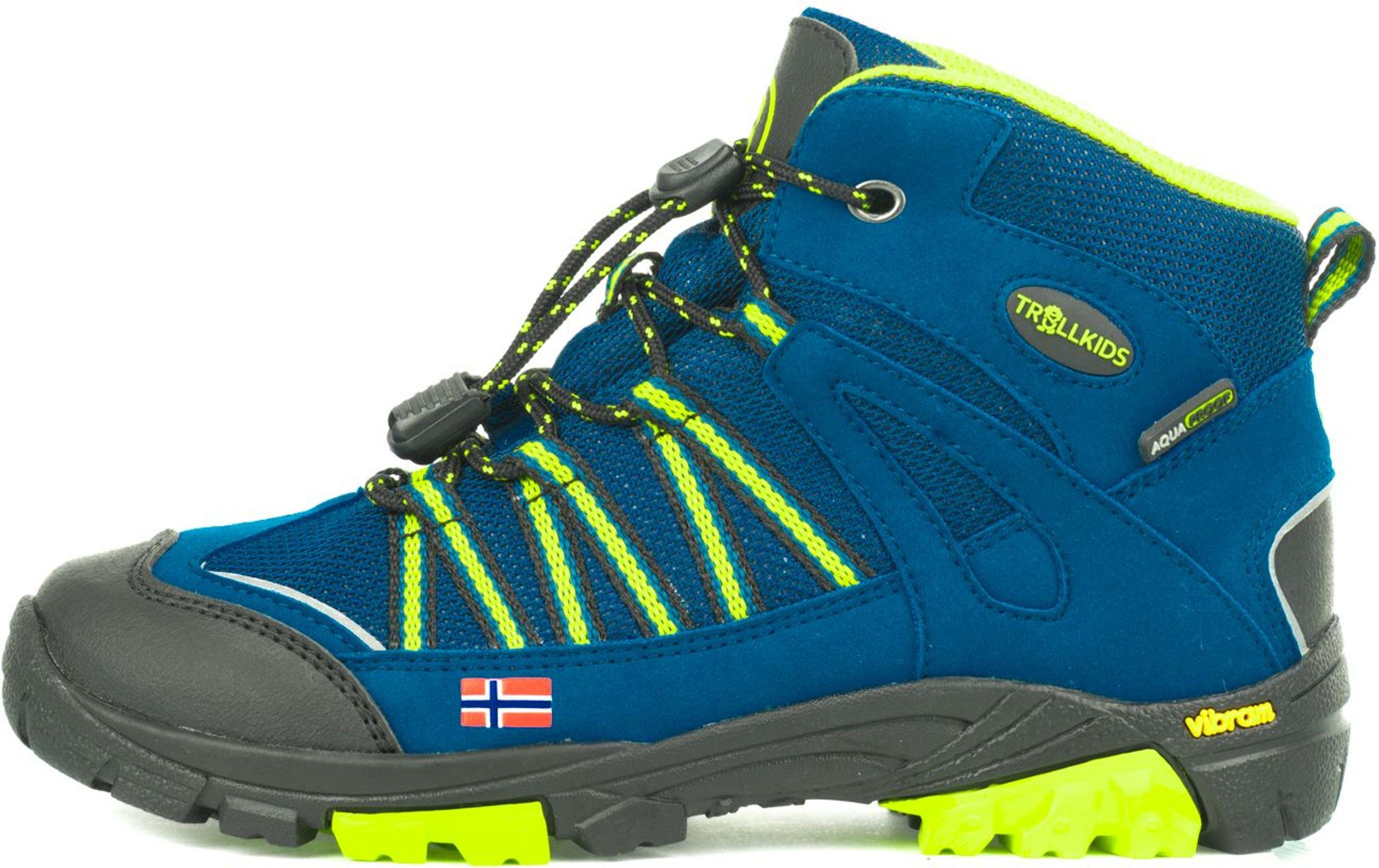 Trollkids Lofoten Hiker Mid Blue/Lime