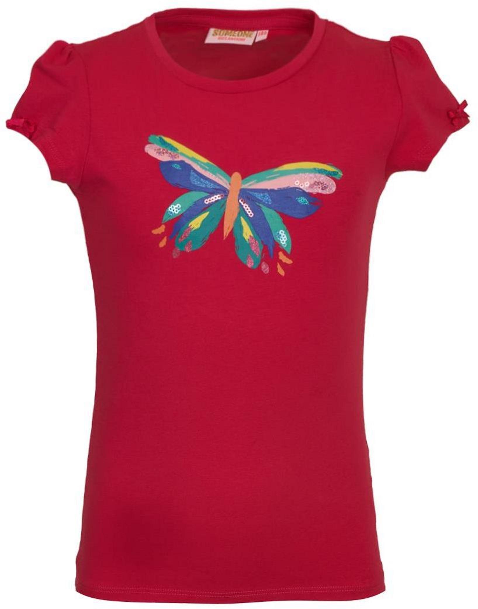 Someone Girl Kurzarmshirt Schmetterlink bright pink