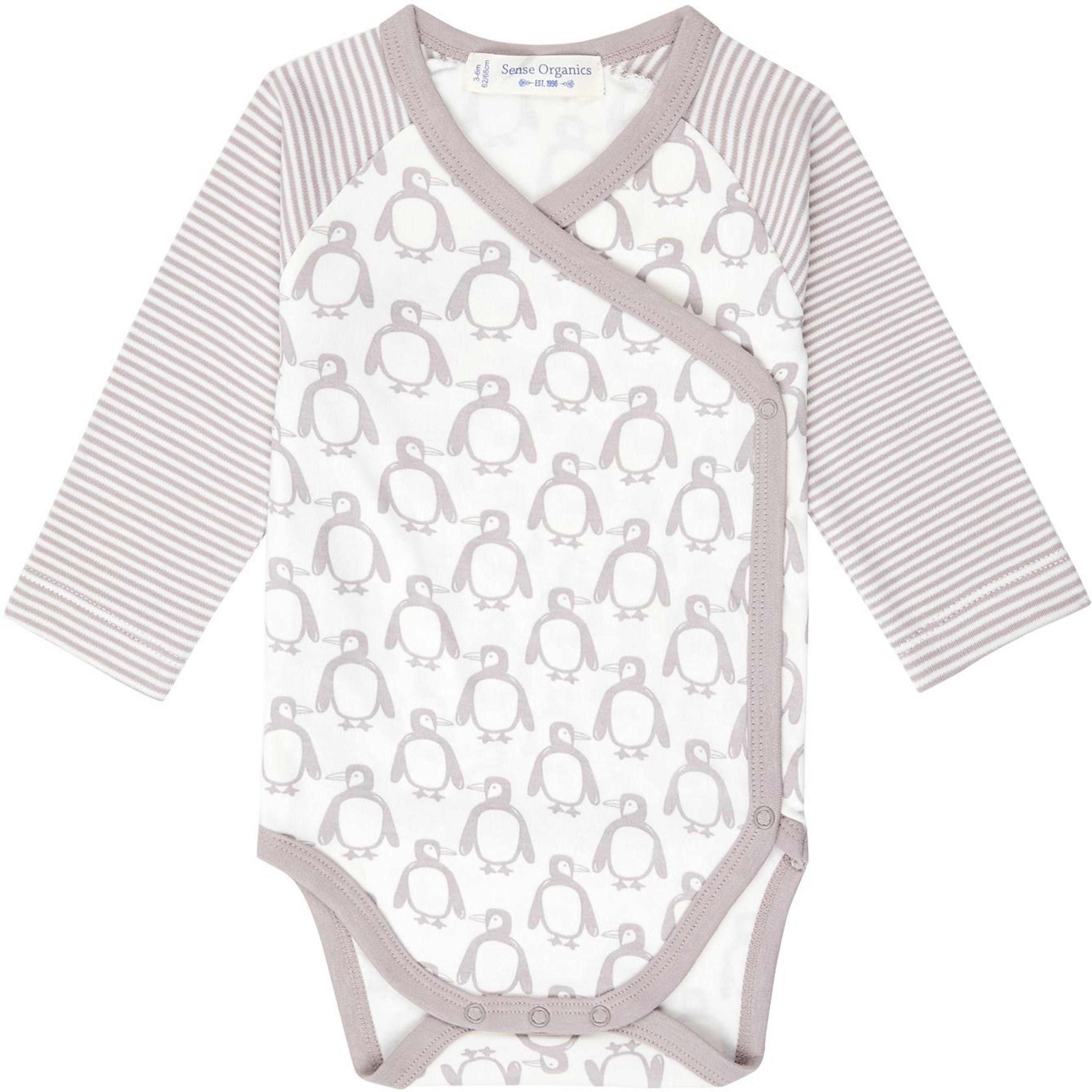 Sense Organic YGON Baby Wrap Body L/S taupe