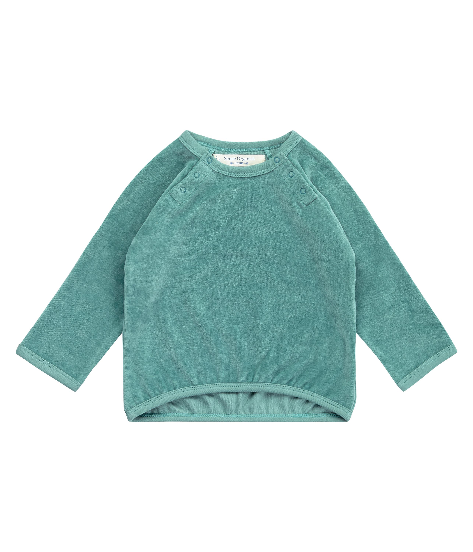 Sense Organic Baby Sweater Velour JANNE Teal