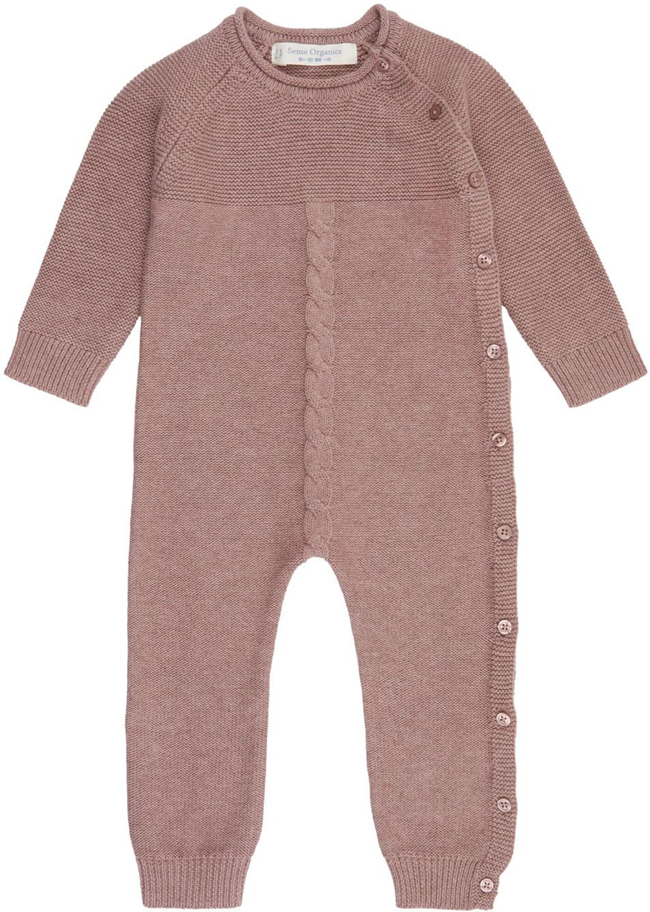 Sense Organic YACI Baby Knitted Romper woodrose