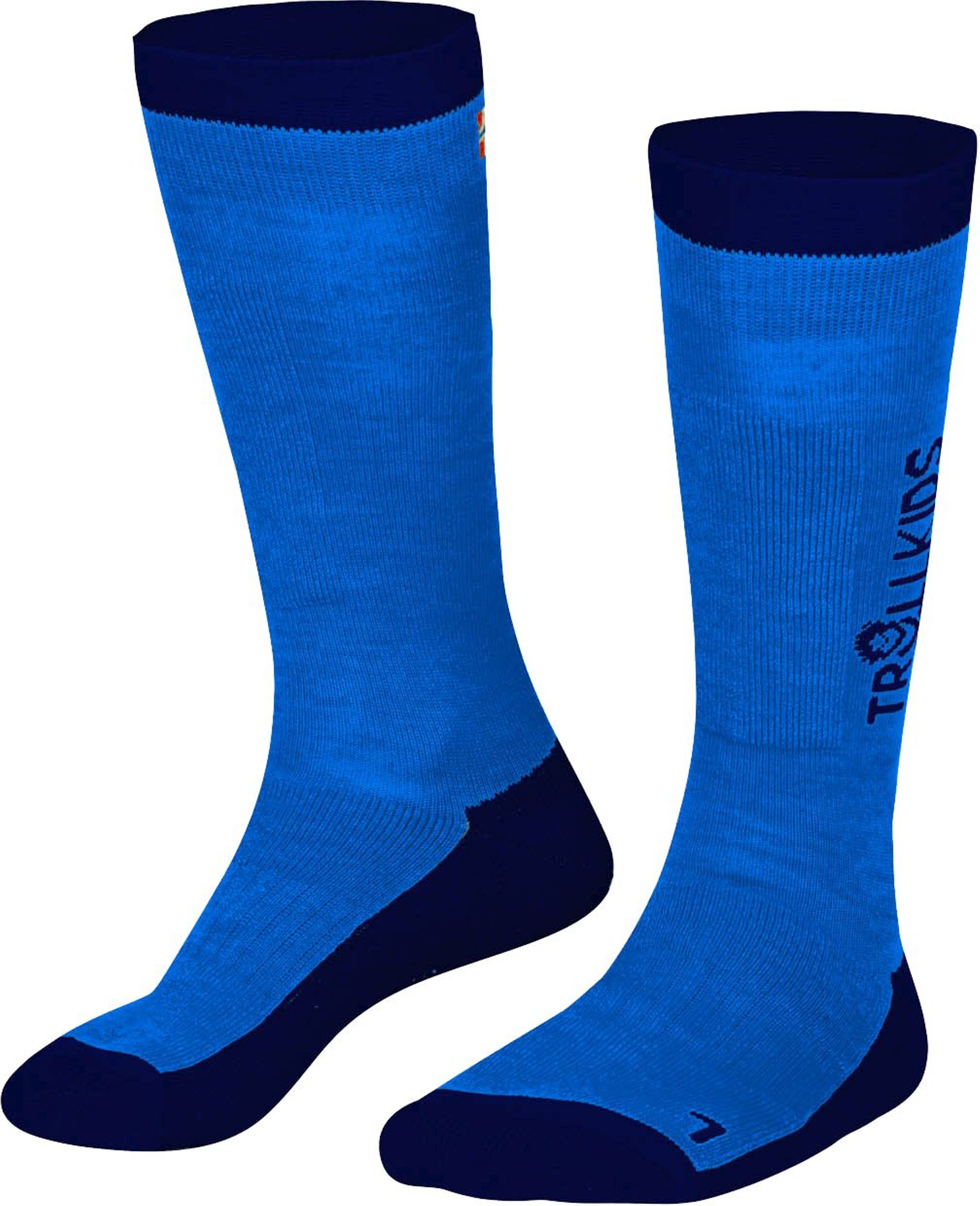 Trollkids Ski Socken Medium Blue/Navy