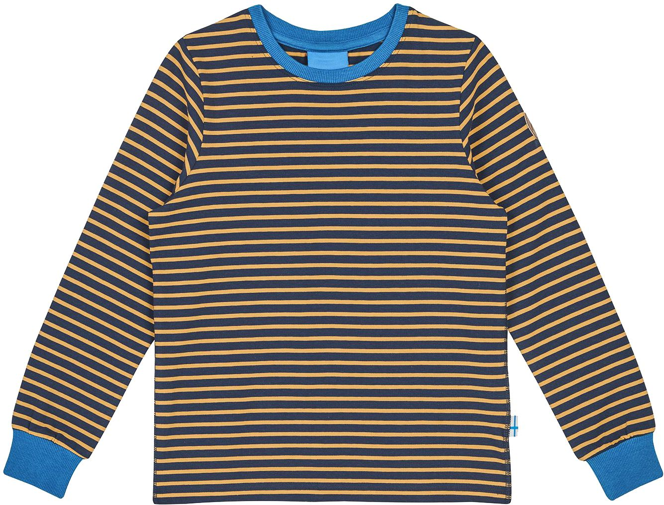 Finkid Langarmshirt RULLA navy/golden yellow