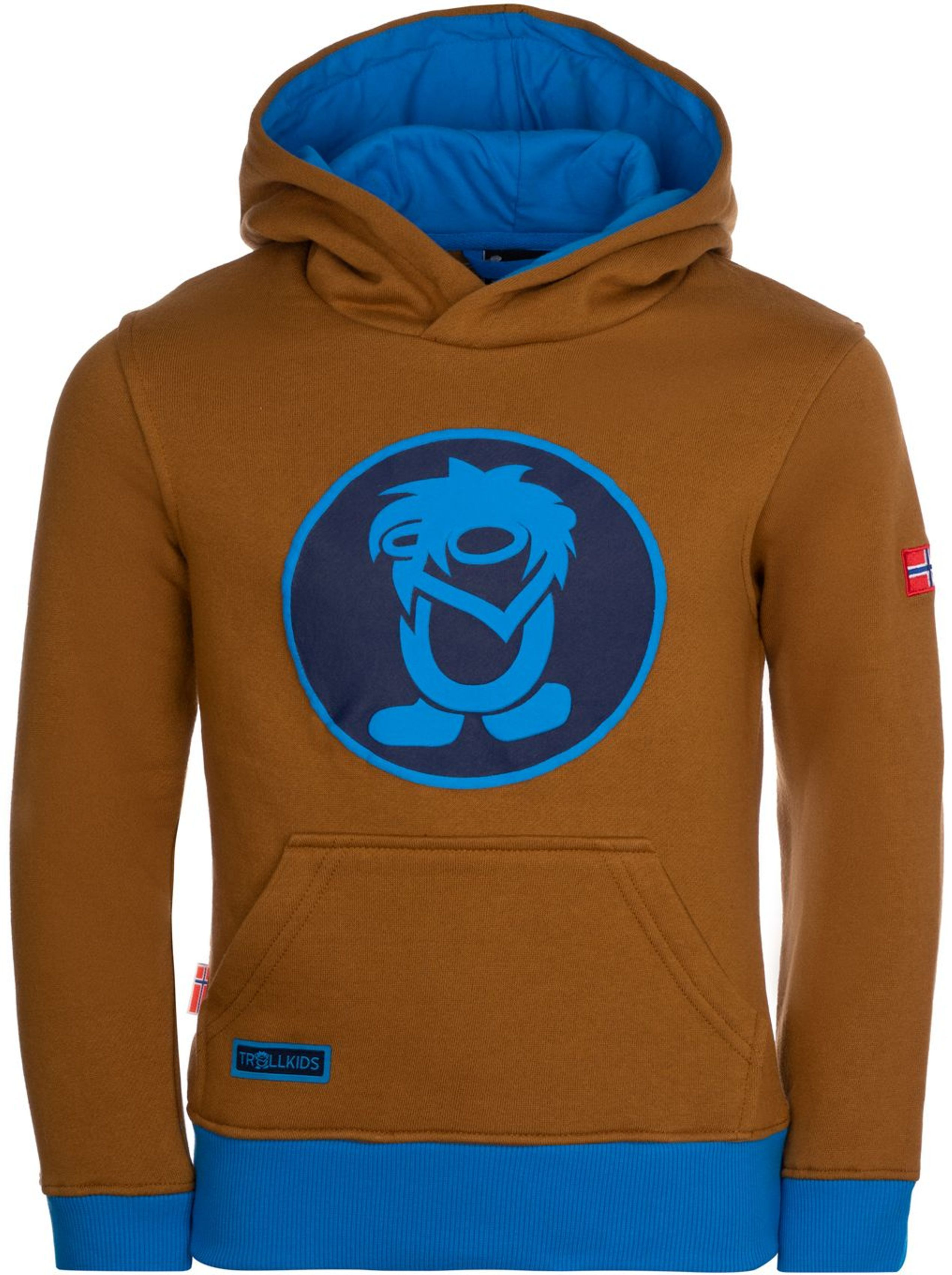 Trollkids Troll Sweater Bronze/Azure Blue