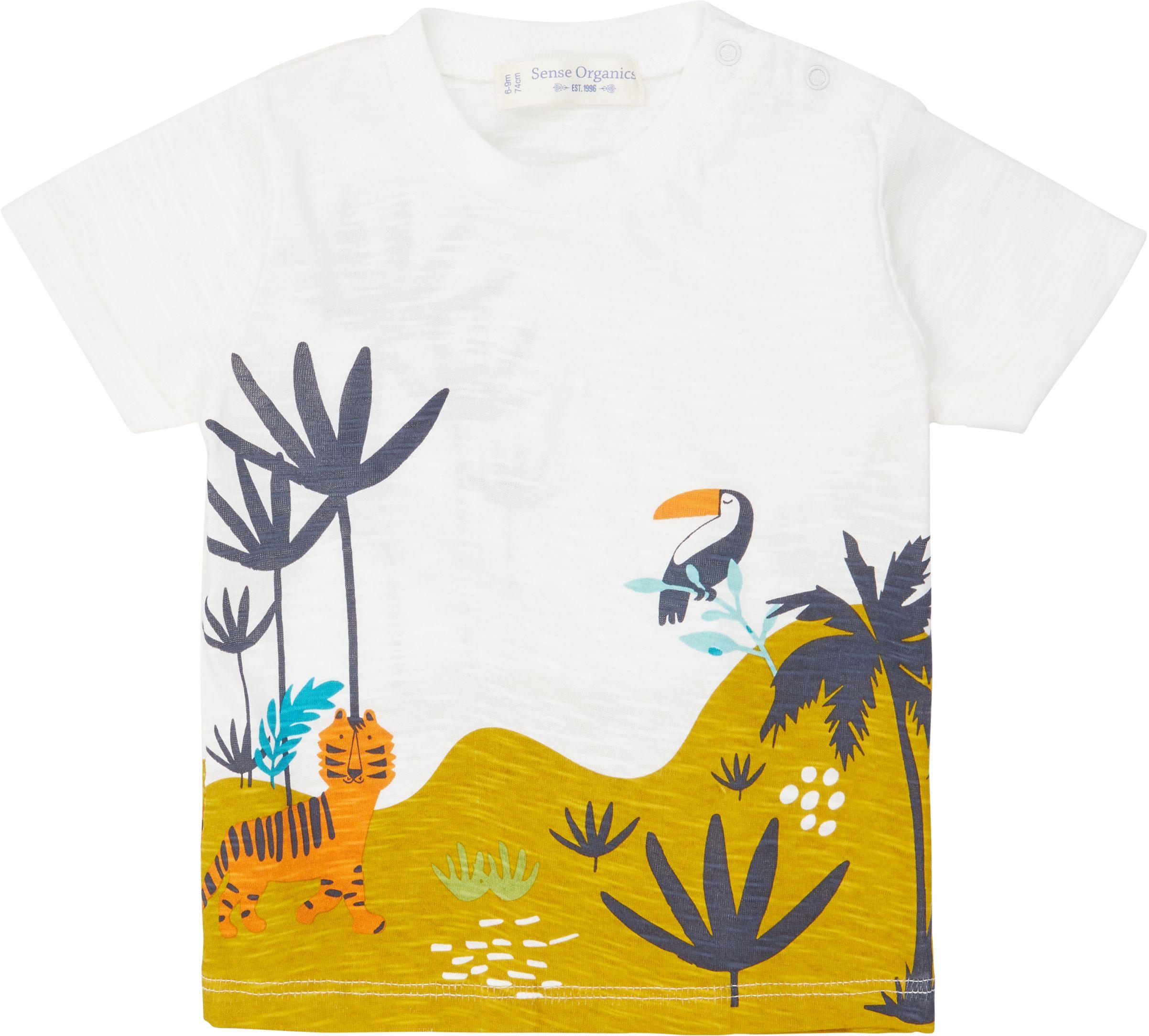 Sense Organic ODO Baby Shirt Kurzarm White Jungle