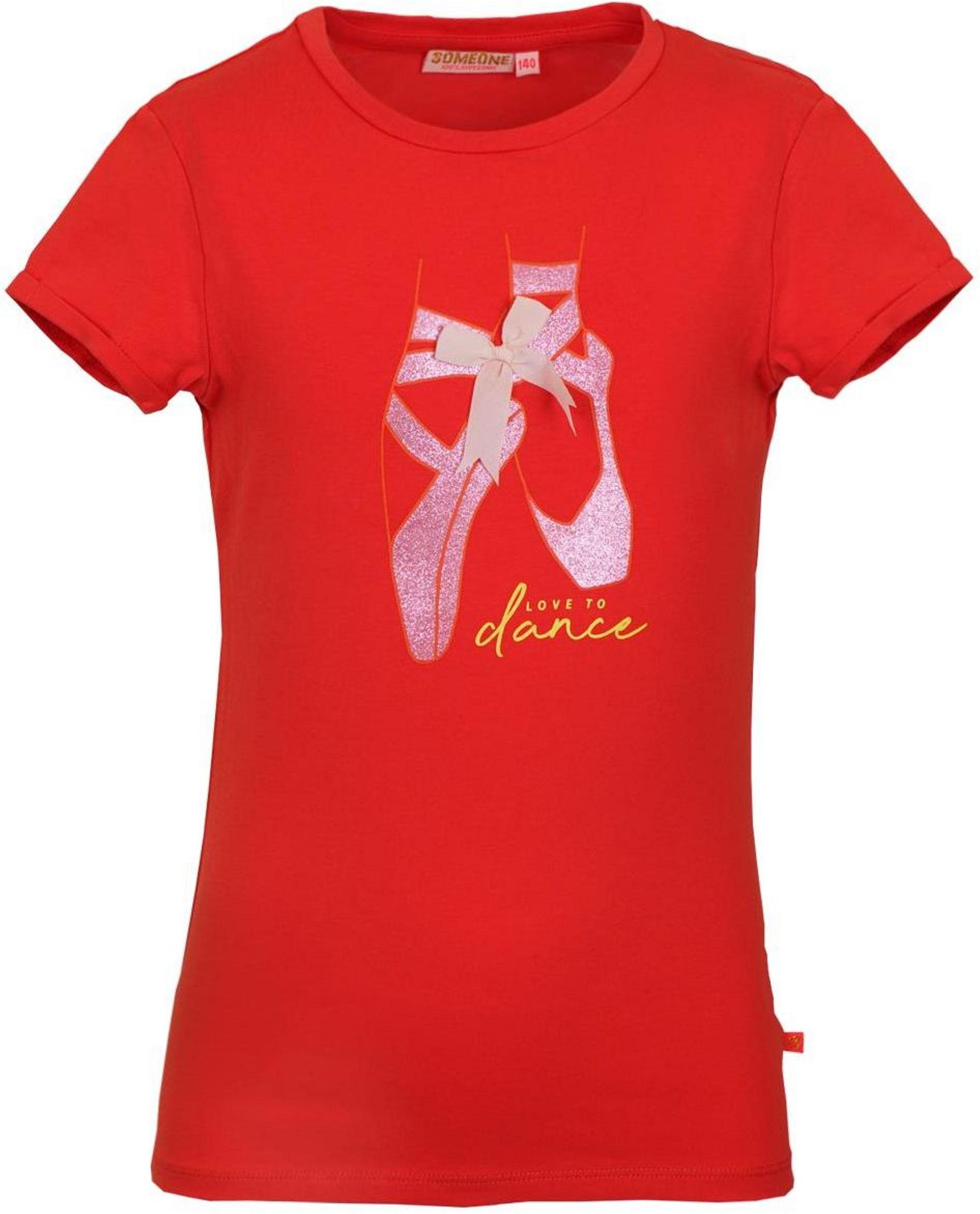 Someone Girl Kurzarmshirt Ballerina red
