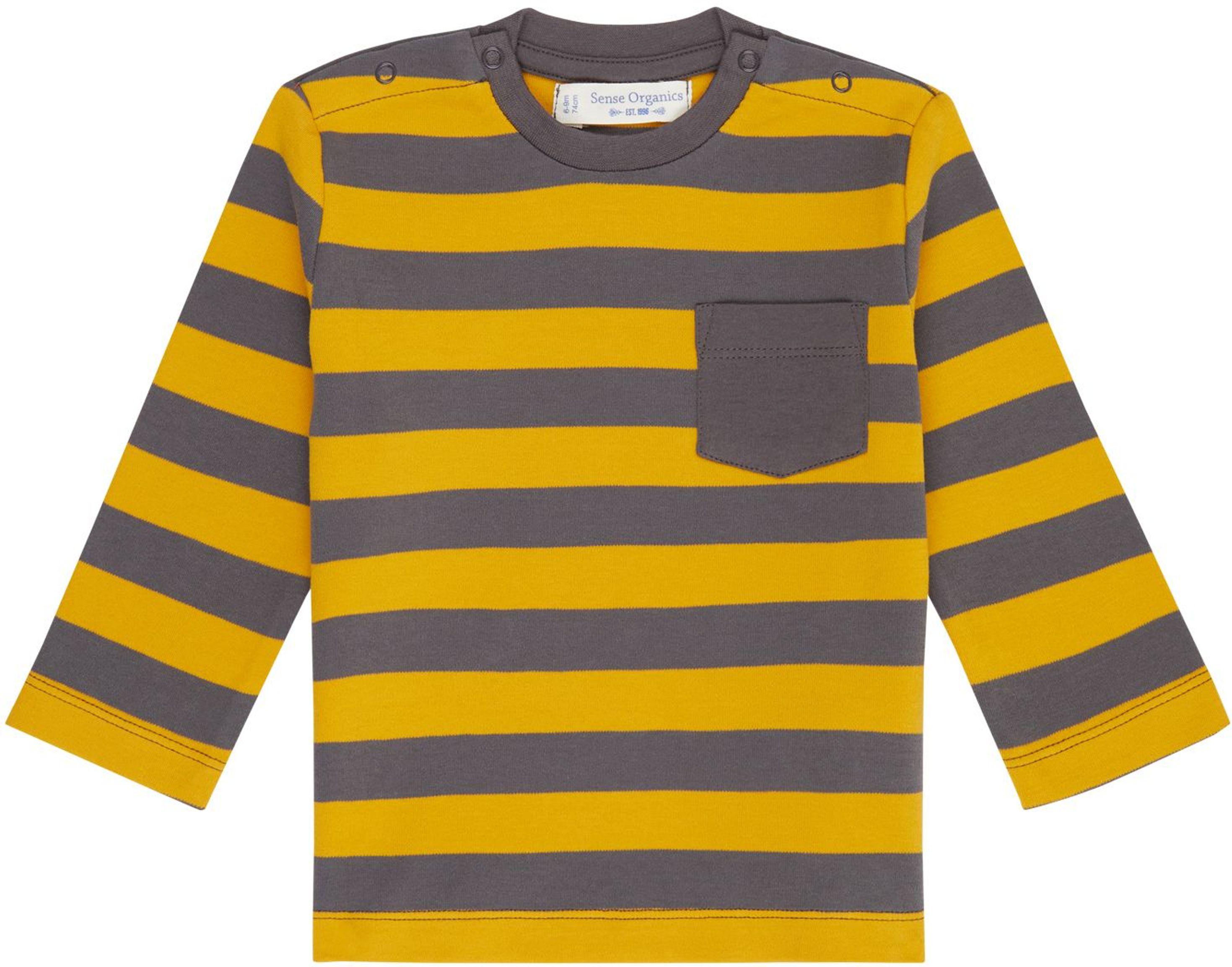 Sense Organic ELAN Baby Shirt L/S mustard/stripe