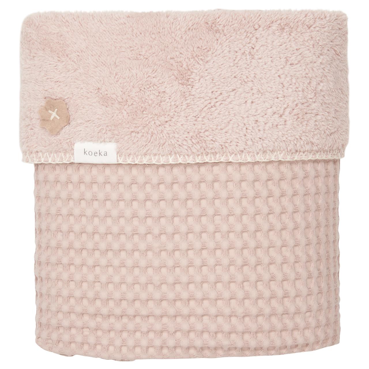 Koeka Babydecke Waffle/Teddy Oslo grey pink