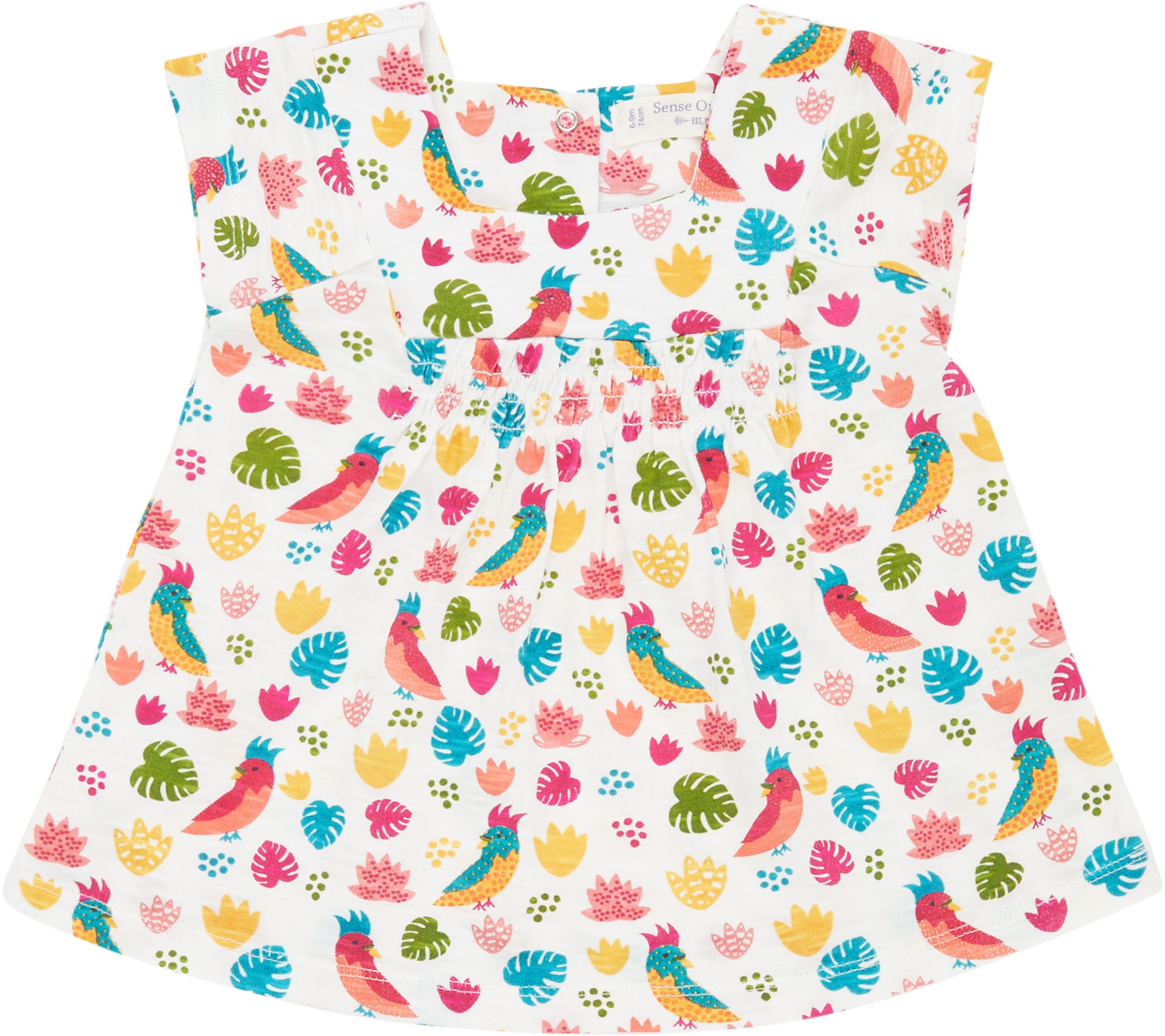 Sense Organic IRMA Baby Tunic Kurzarm Parrots