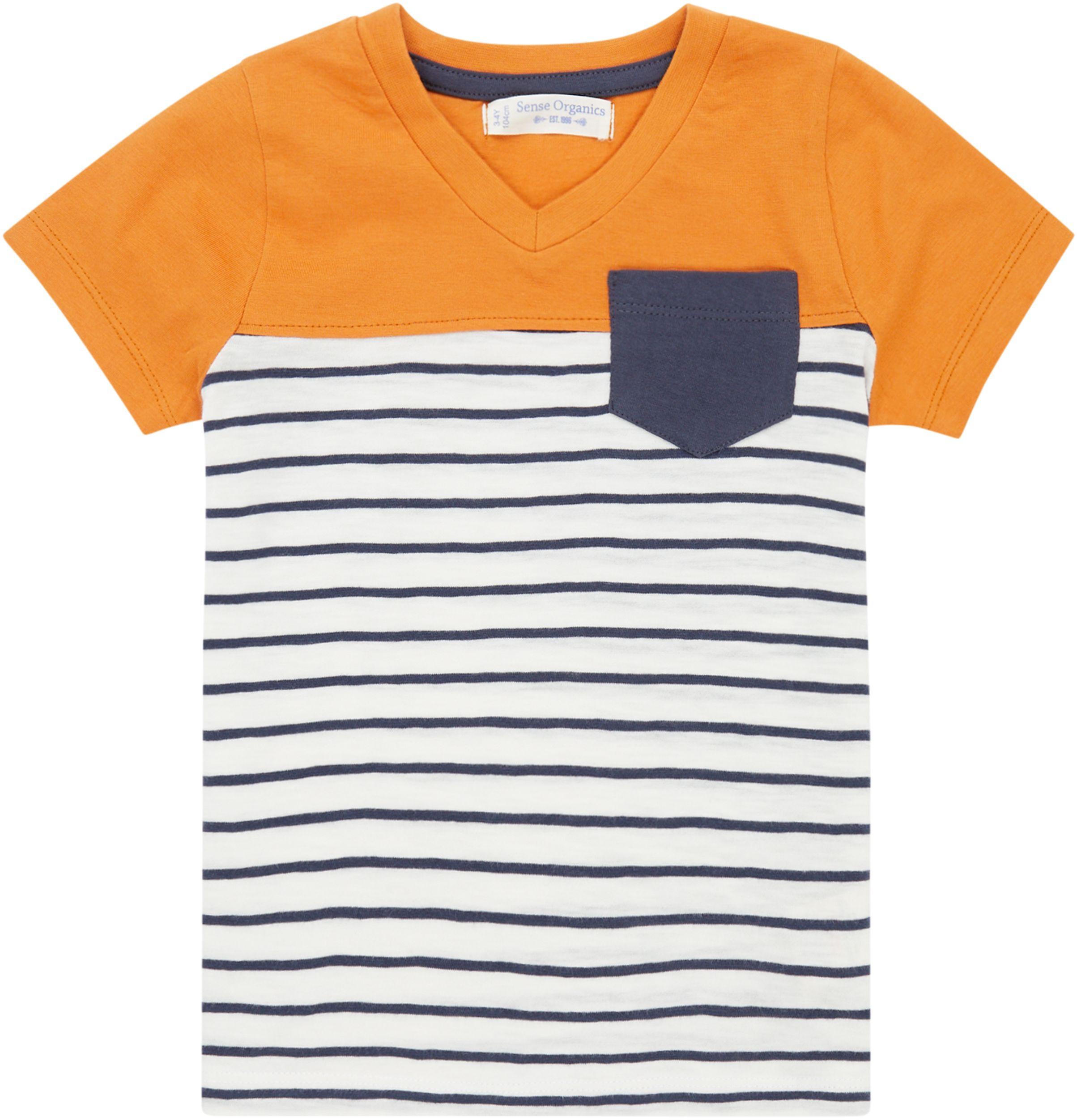 Sense Organic SALVO Shirt Kurzarm Navy Stripes