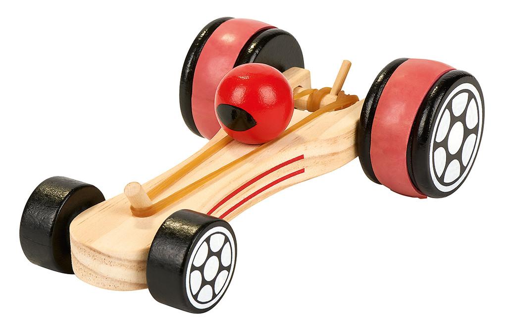 Moses Rennwagen mit Gummimotor