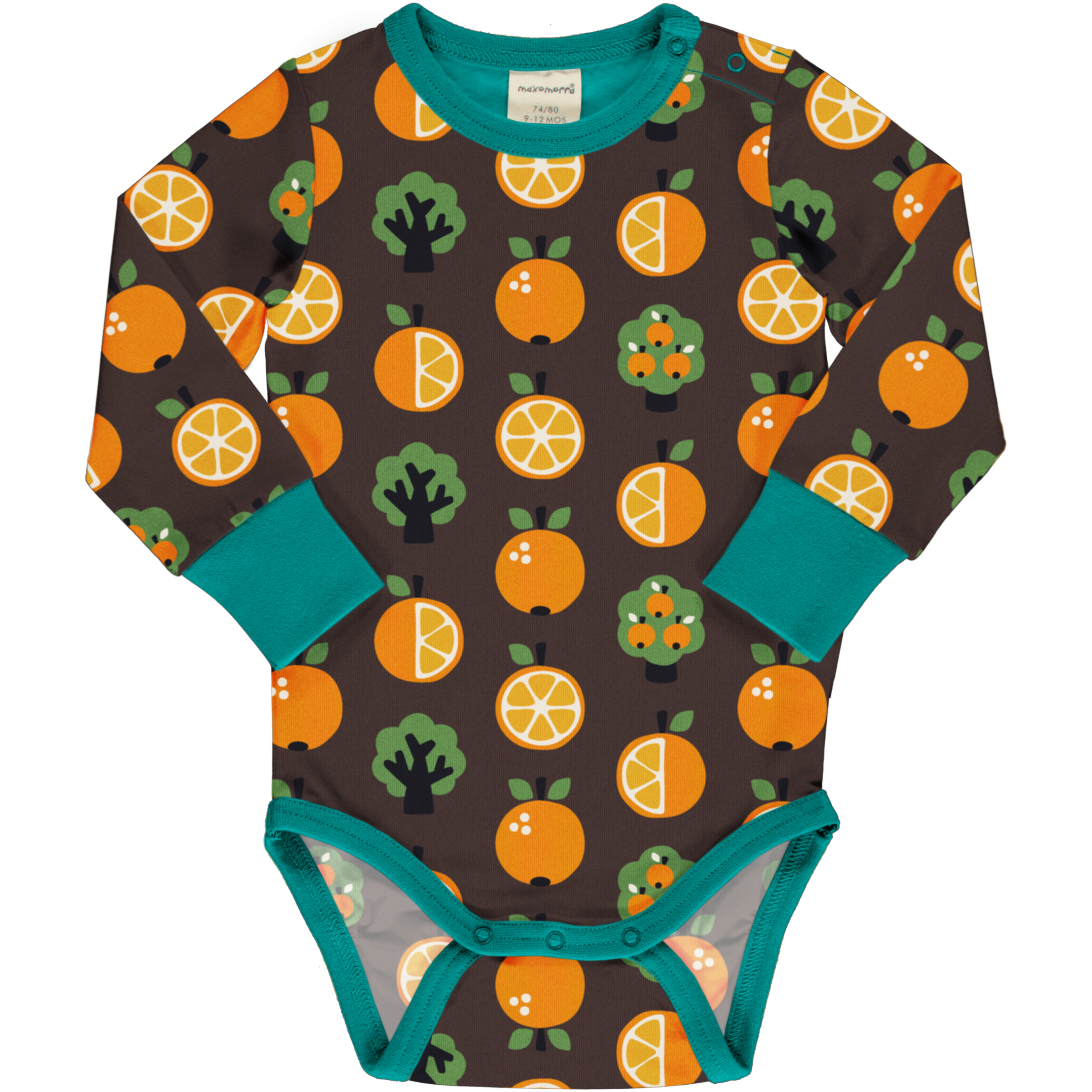 Maxomorra Baby Body Langarm ORANGE 062/068