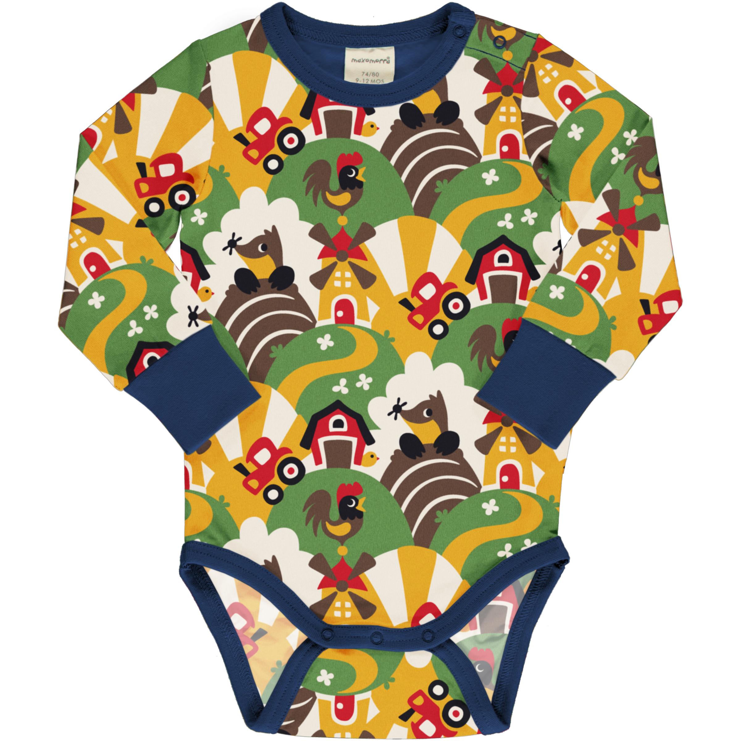 Maxomorra Baby Body Langarm FARM 062/068