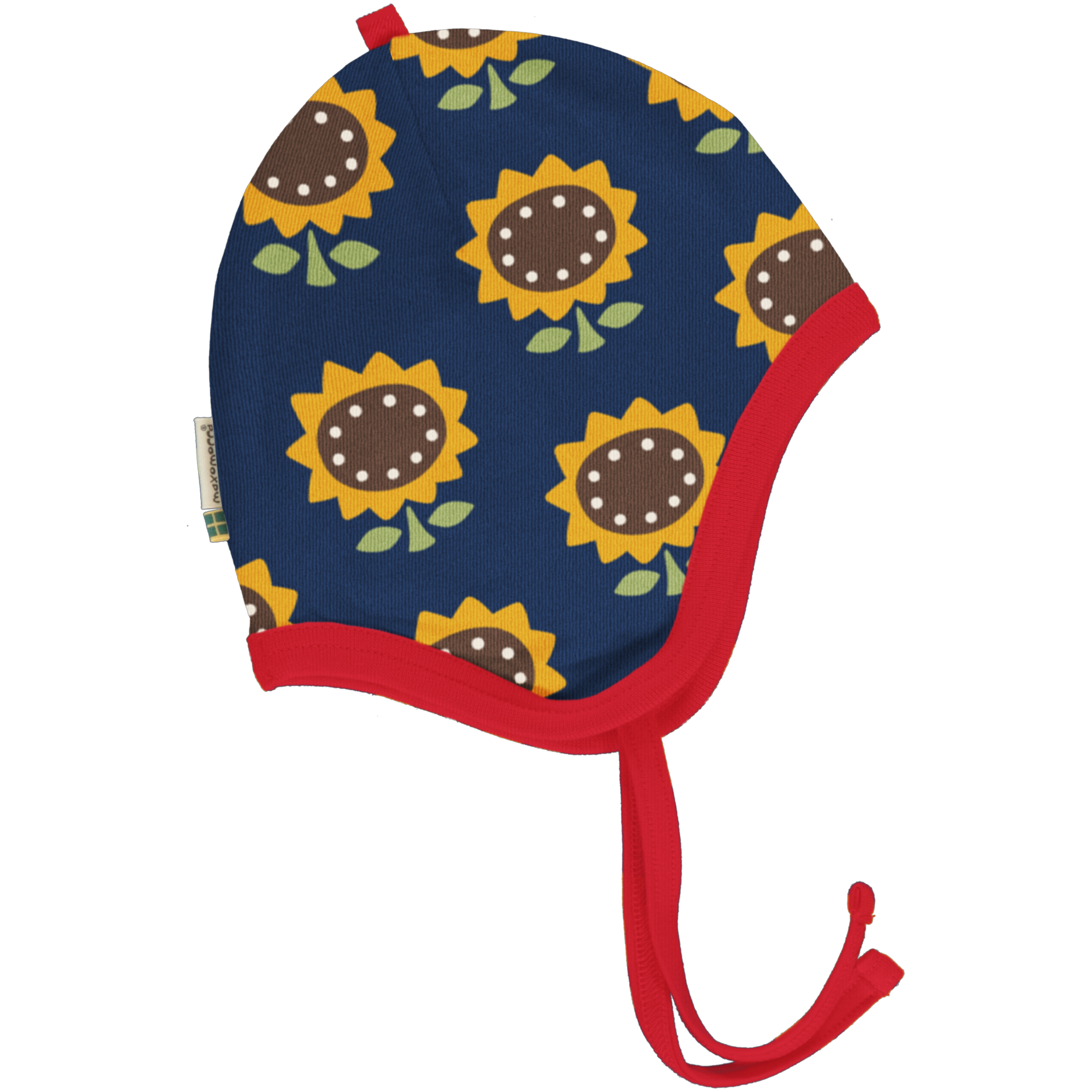 Maxomorra Baby Mütze Helmet Velour SUNFLOWER 40/42