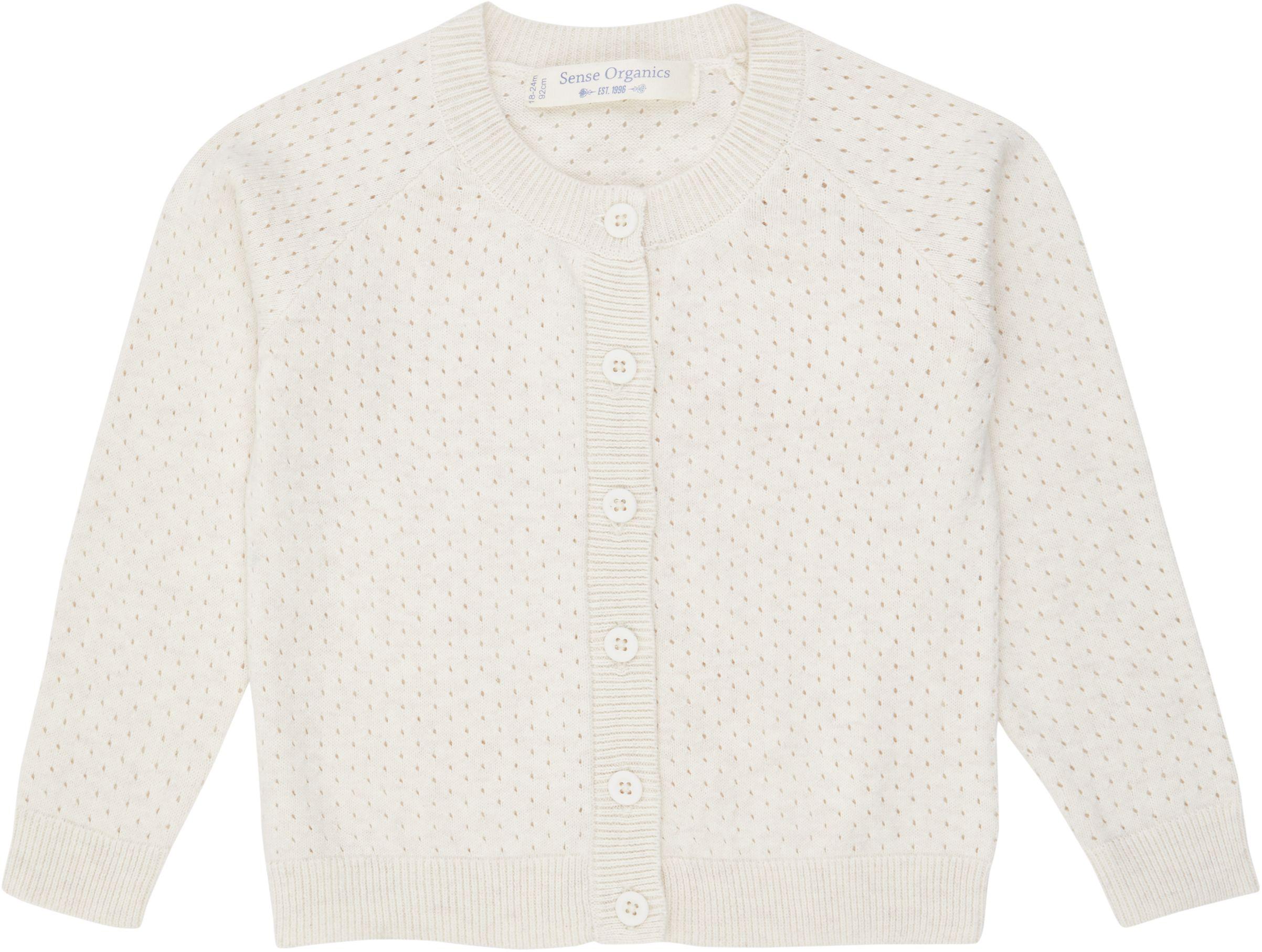 Sense Organic ELSA Knitted Cardigan Ivory